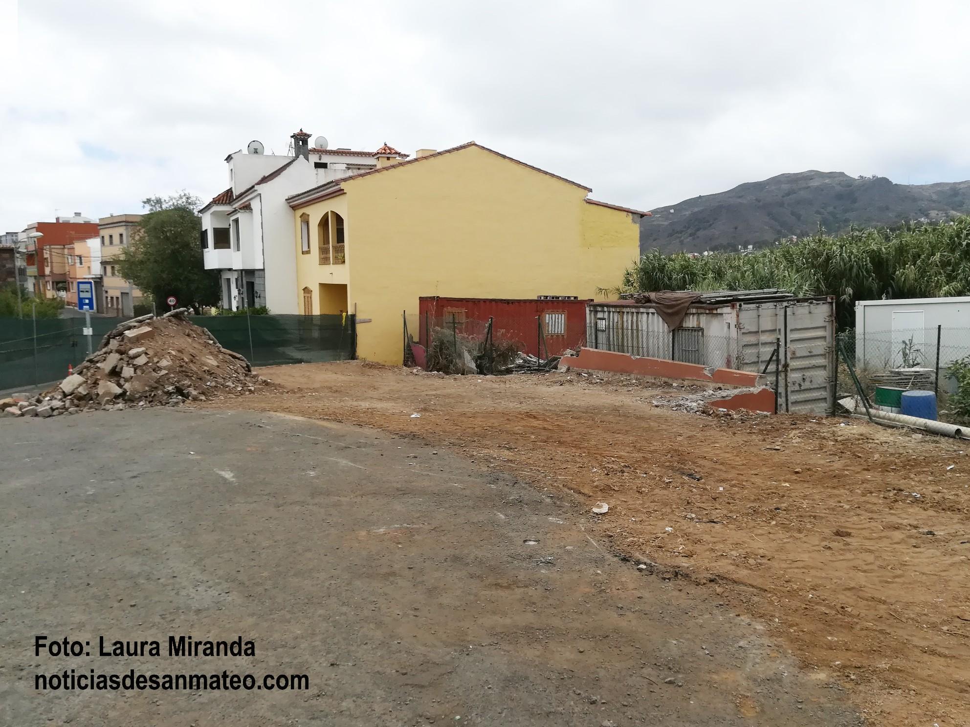Comienza obra plaza publica La Solana Julio 2017