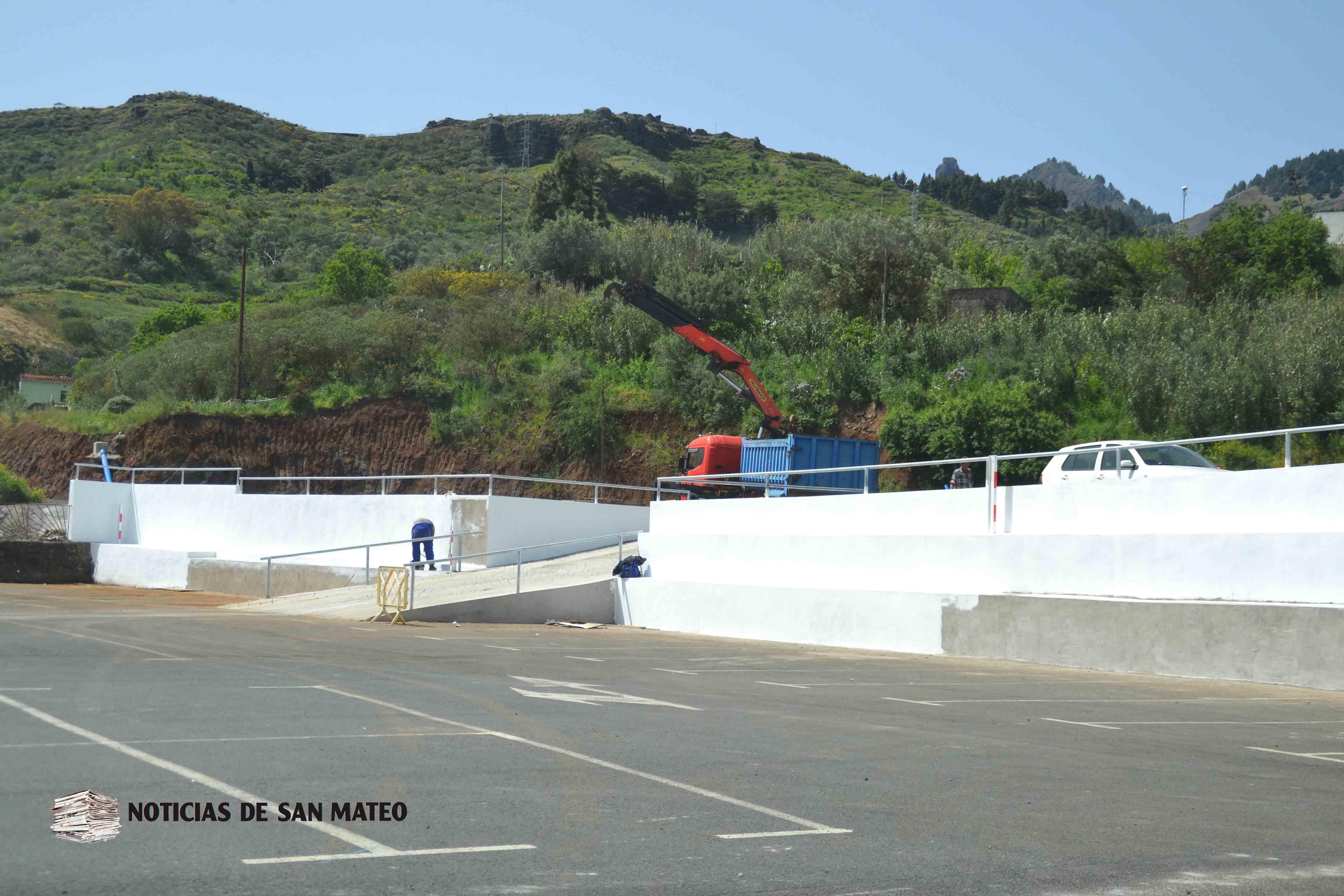 Acondicionamiento aparcamiento Hoya Viciosa San Mateo Foto Laura Miranda Noticias de San Mateo