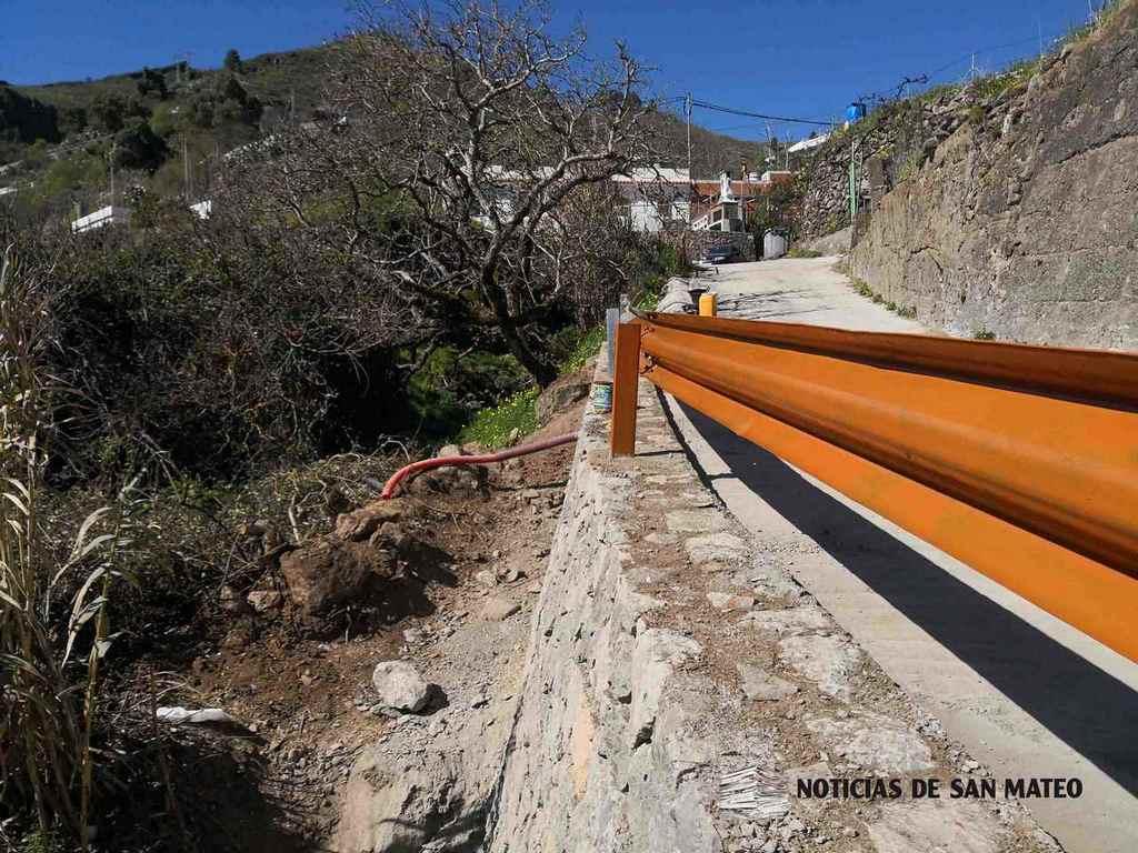 Fin muro La Longuera Las Lagunetas Noticias de San Mateo