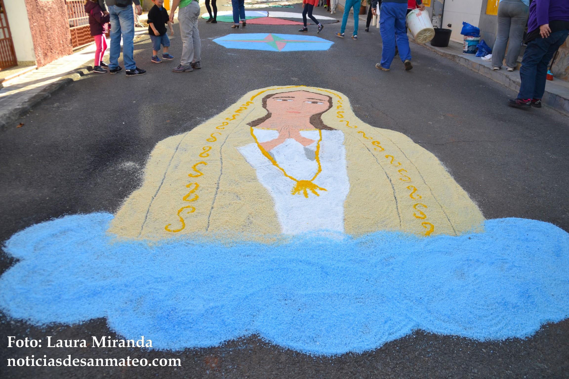 Alfombras Fiestas de Fatima calle La Palma 8 de mayo de 2016 Foto Laura Miranda 1