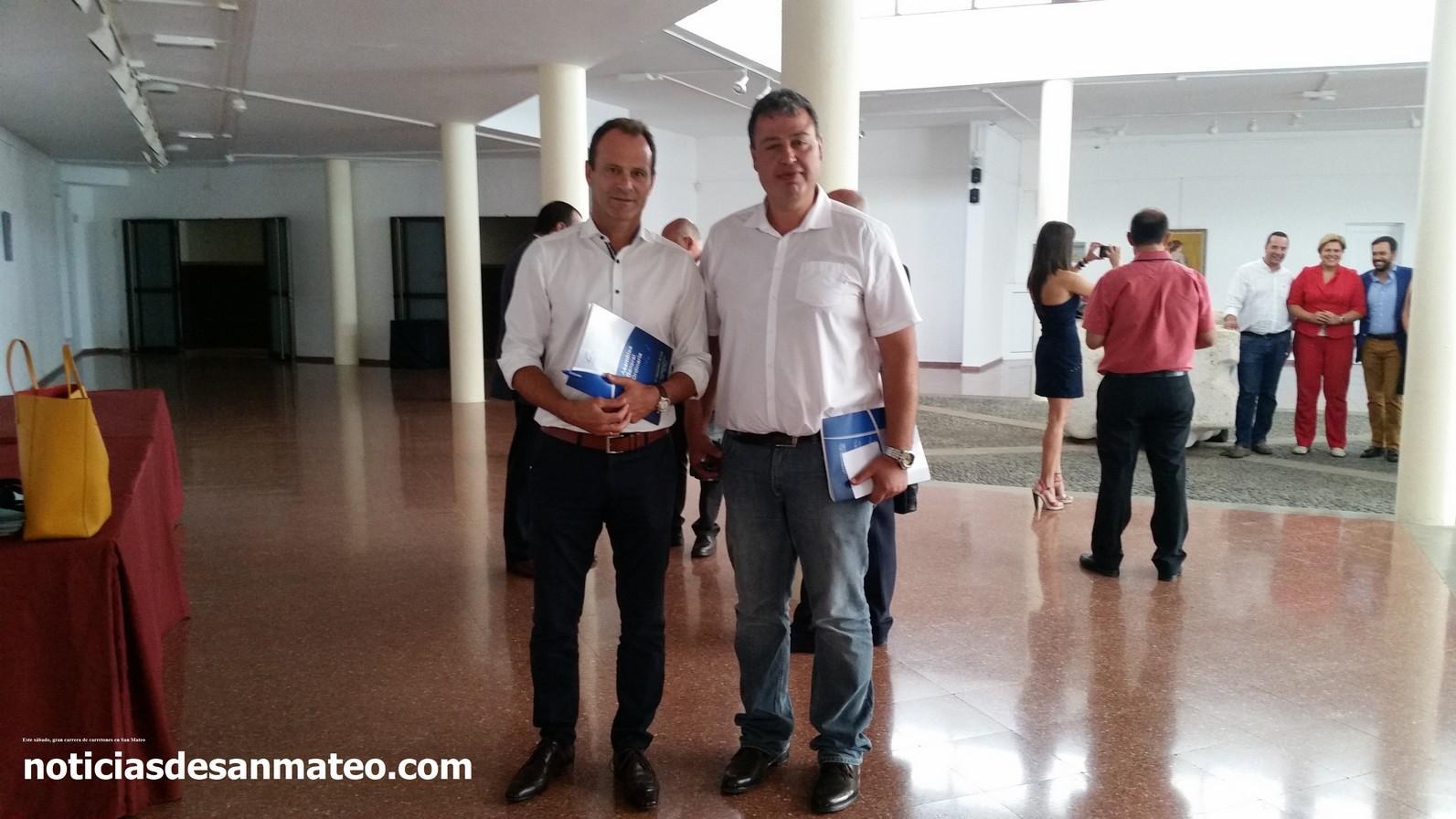 Antonio Ortega y Oscar Hdez en la FECAM