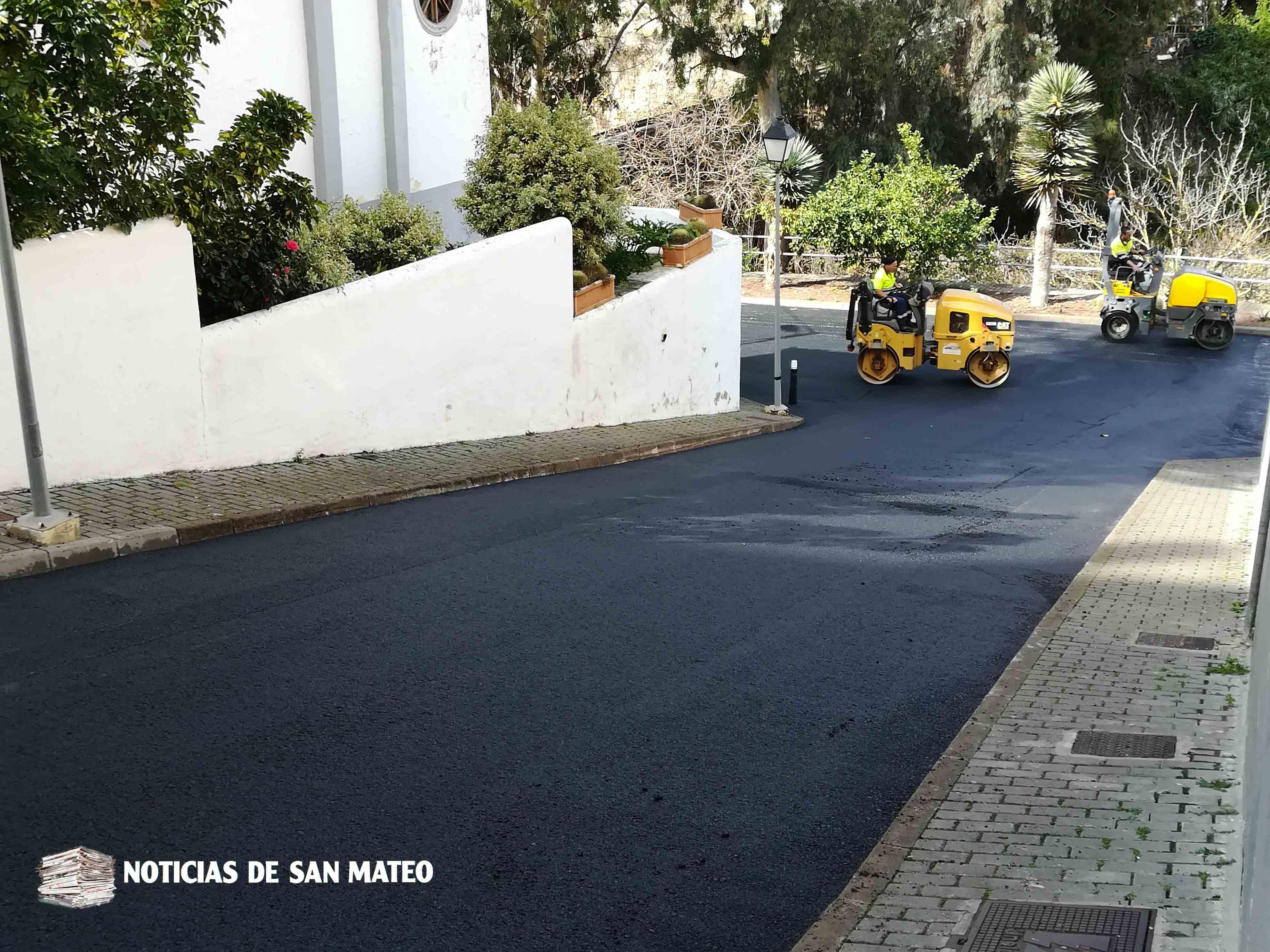 Asfaltado calle trasera Lourdes y El Calvario