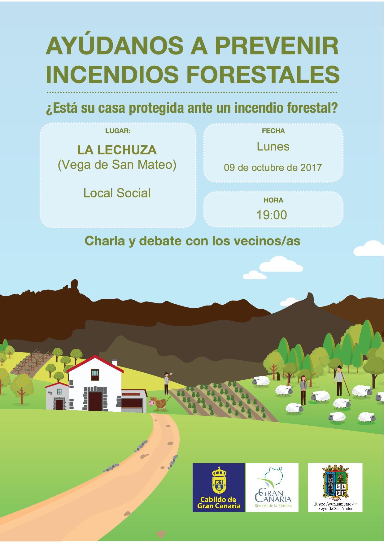 CARTEL CHARLAS SAN MATEO La Lechuza 19.00