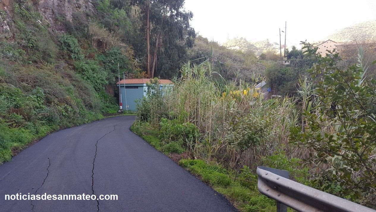 Carretera de El Chorrillo Reasfalto 3 de enero de 2017