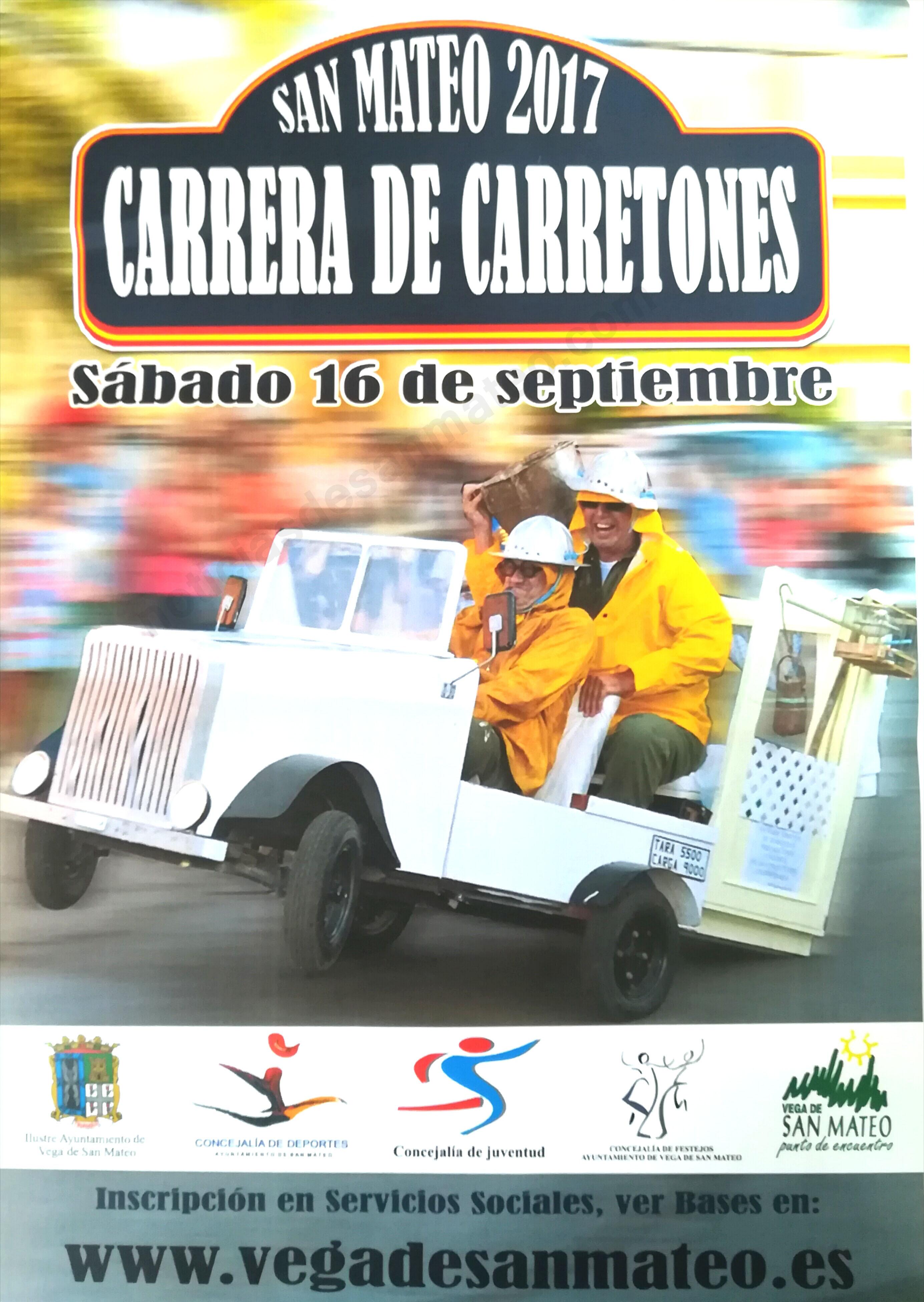 Cartel Carrera carretones 2017