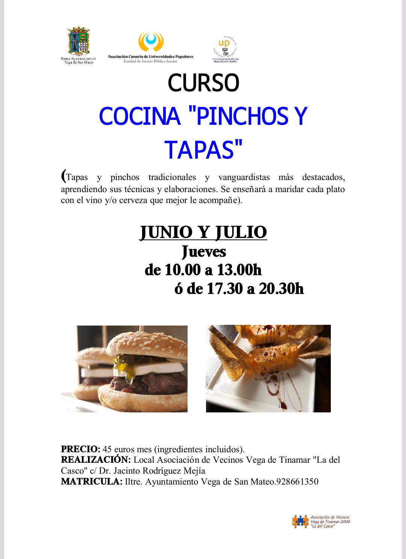 Cartel Curso Pinchos y Tapas up San Mateo 2017