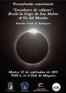 Cartel cazadores de eclipses 22 sept. 2015