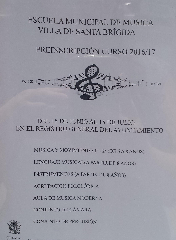 Cartel escuela musica sb
