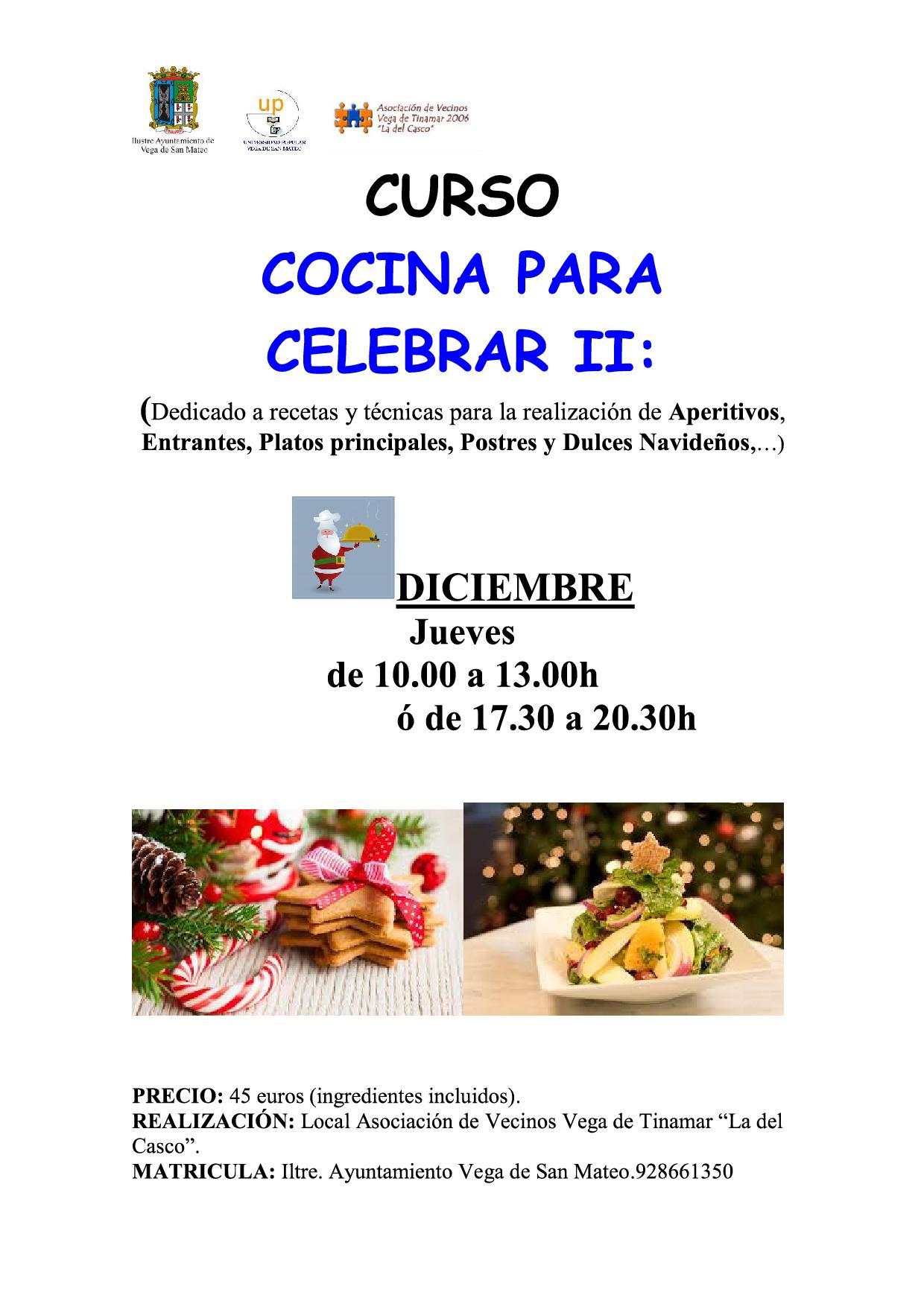 Curso cocina para celebrar UP San Mateo 2016