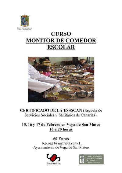 Curso monitor comedor escolar febrero 2016