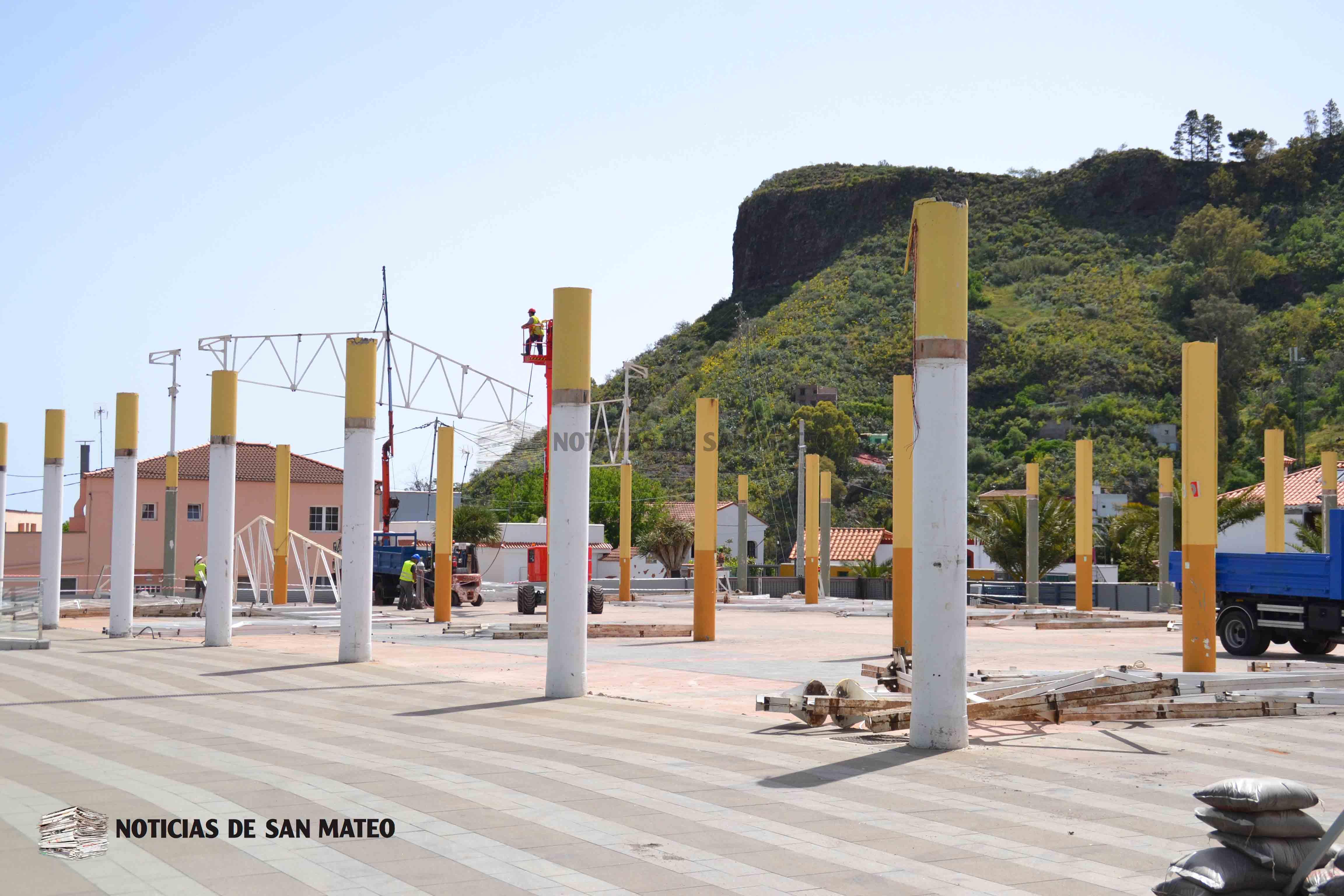 Desmonte cubierta Nave A Mercado 19 de abril de 2018 Foto Laura Miranda Noticias de San Mateo