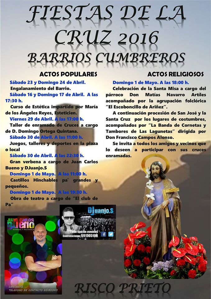Fiestas Risco Prieto 2016 Noticias de San Mateo Laura Miranda