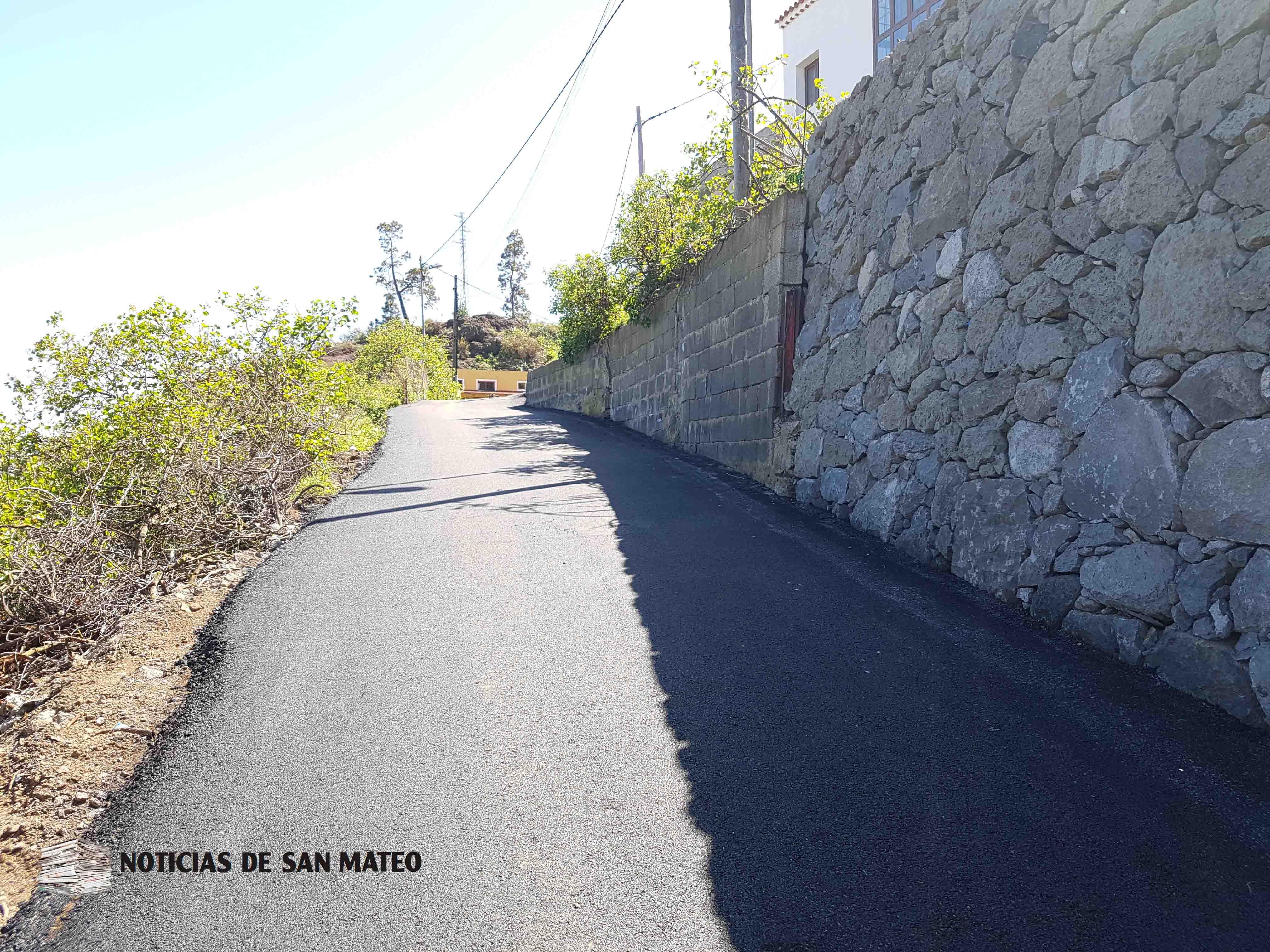 Muro y carretera La Montaneta San Mateo Noticias de San Mateo