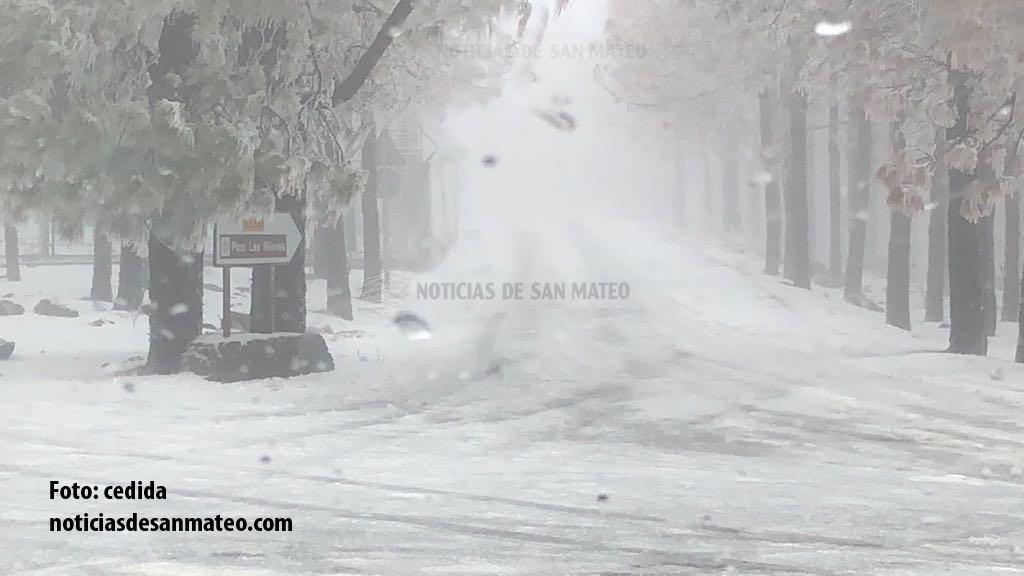 Nieve en Cumbre 30 de enero de 2018 Foto Noticias de San Mateo