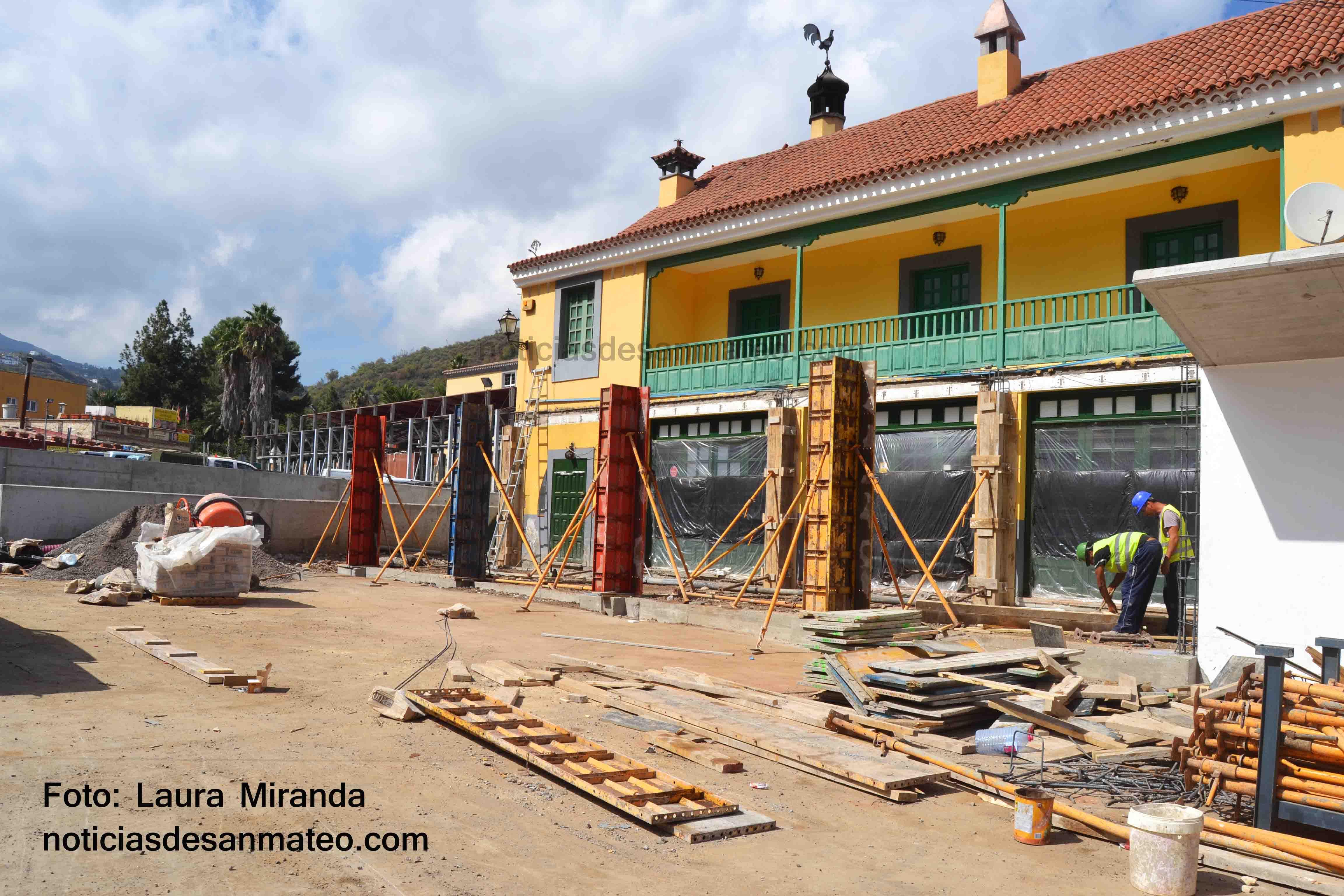 Obra Plaza del Mercado San Mateo FOTO LAURA MIRANDA NOTICIAS DE SAN MATEO