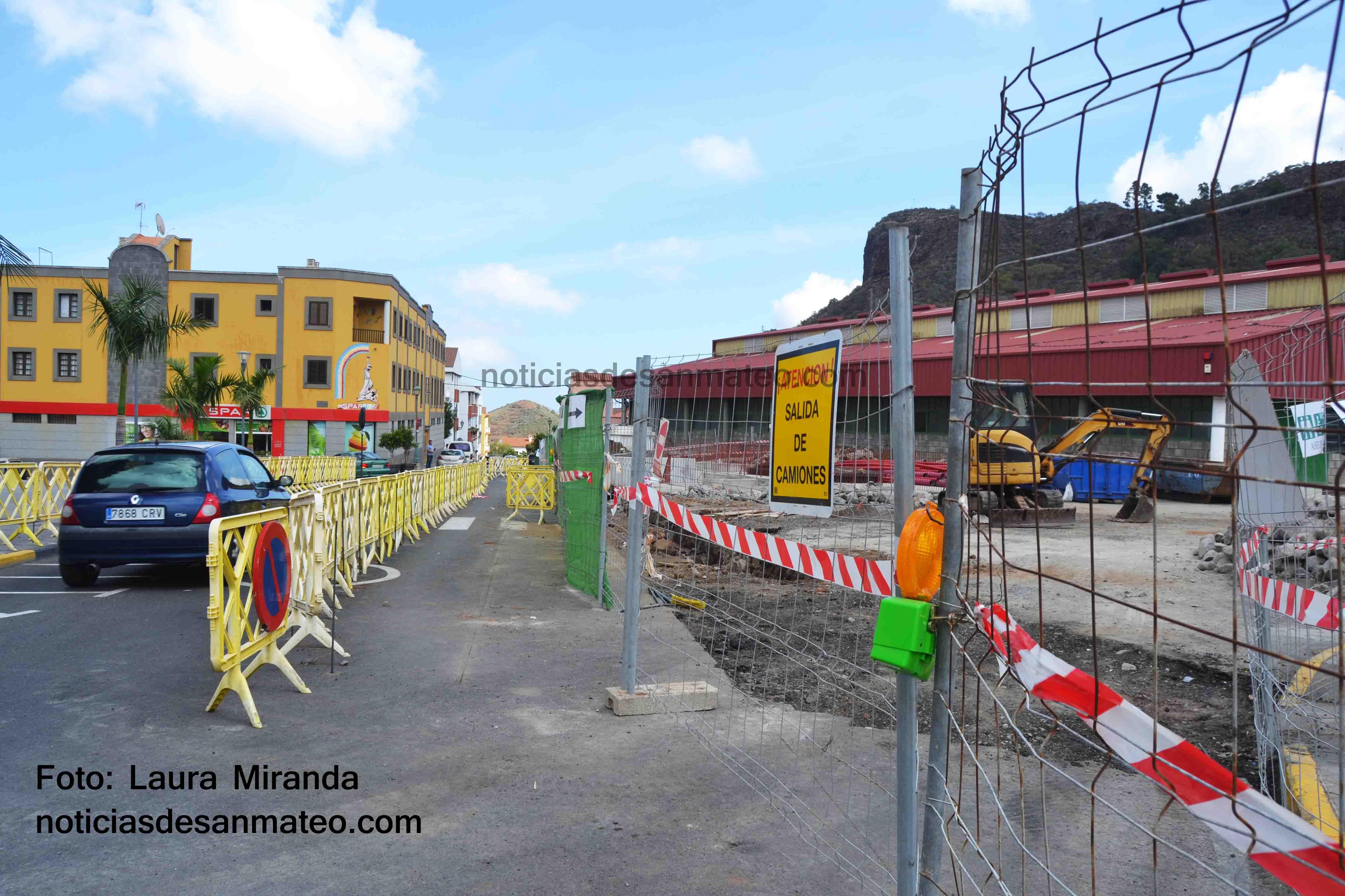Obra Plaza del Mercado San Mateo 2 FOTO LAURA MIRANDA NOTICIAS DE SAN MATEO