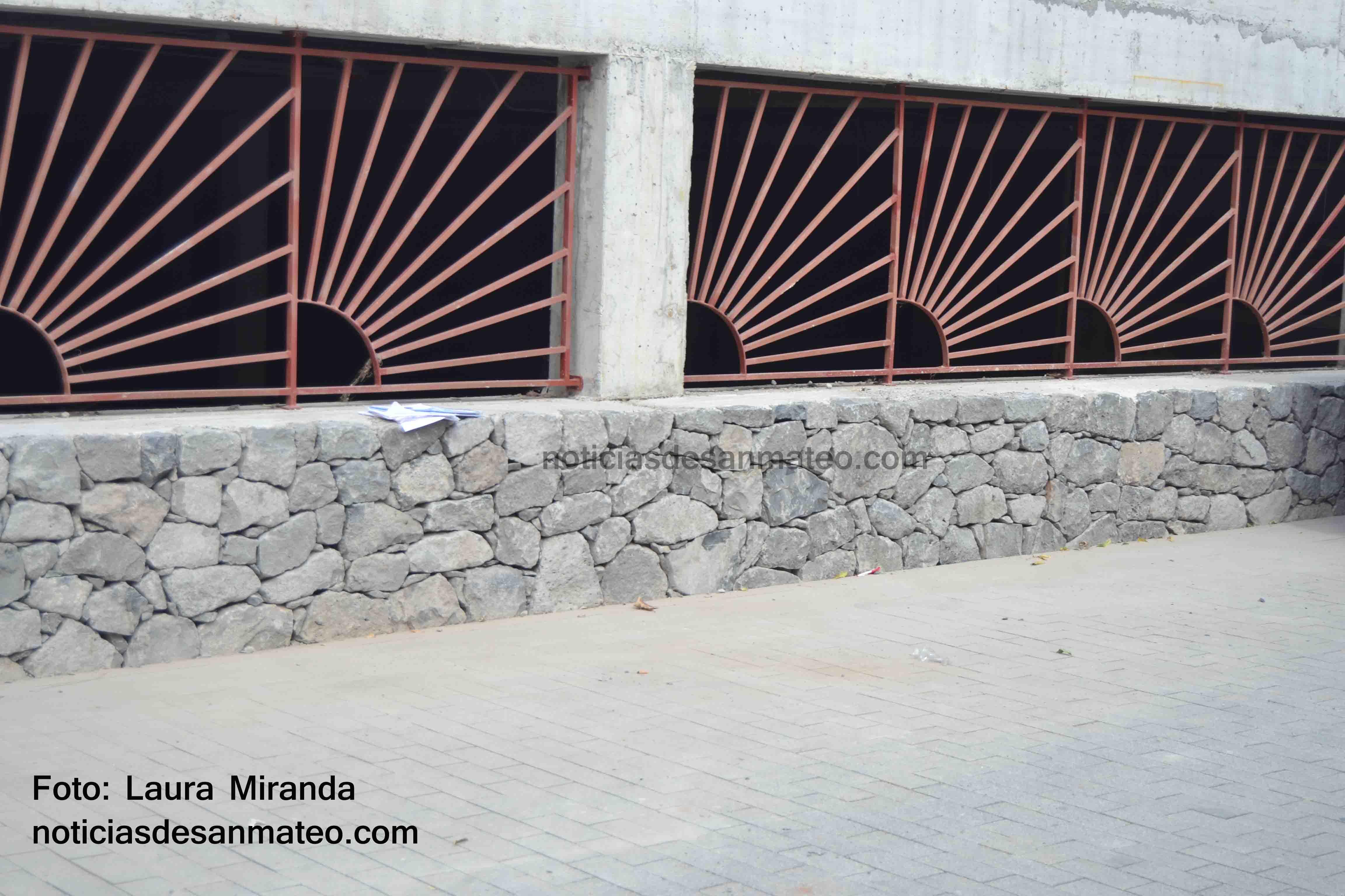 Obra Plaza del Mercado San Mateo 3 FOTO LAURA MIRANDA NOTICIAS DE SAN MATEO