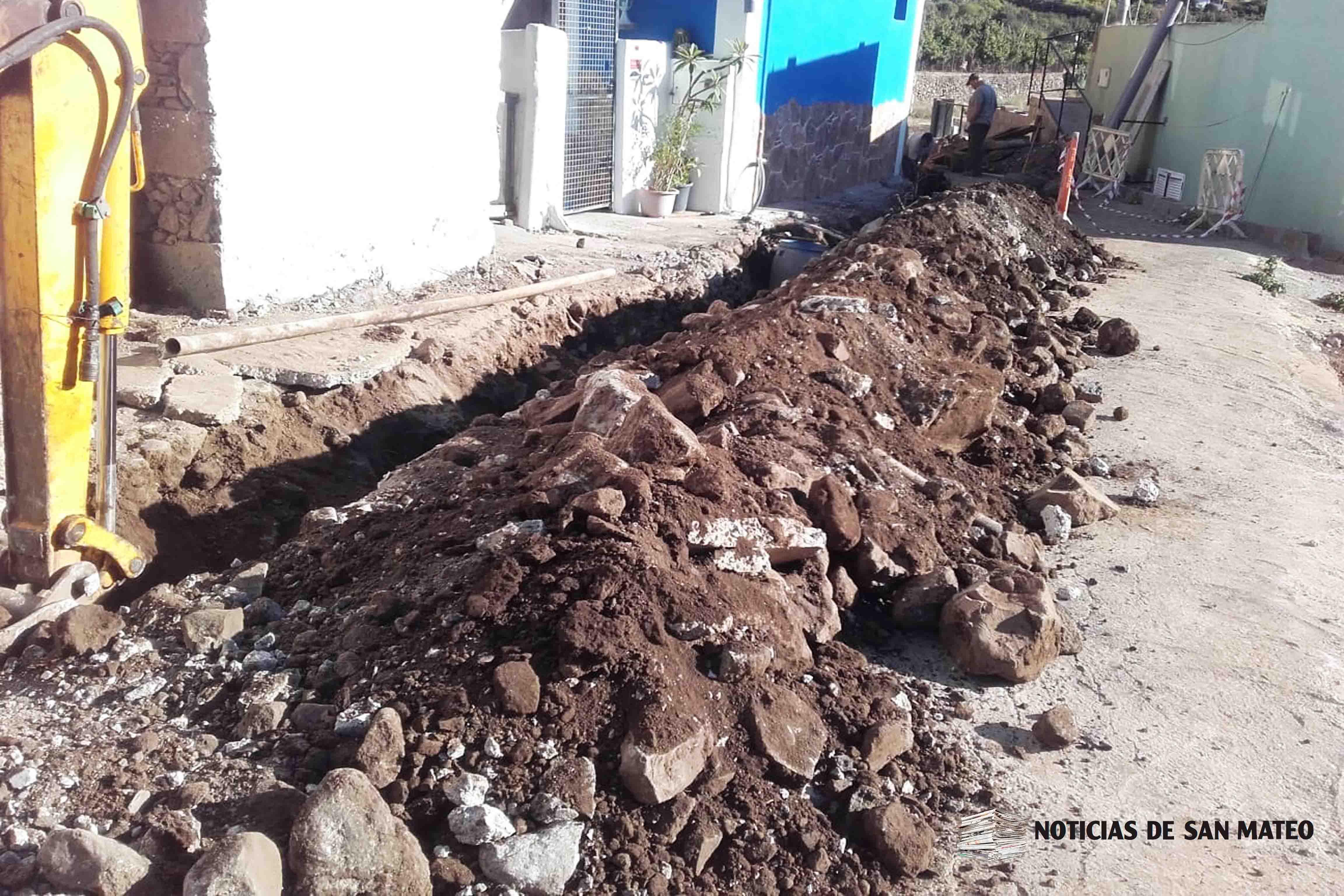 Obras alcantarillado en Las Haciendas San Mateo Foto Noticias de San Mateo
