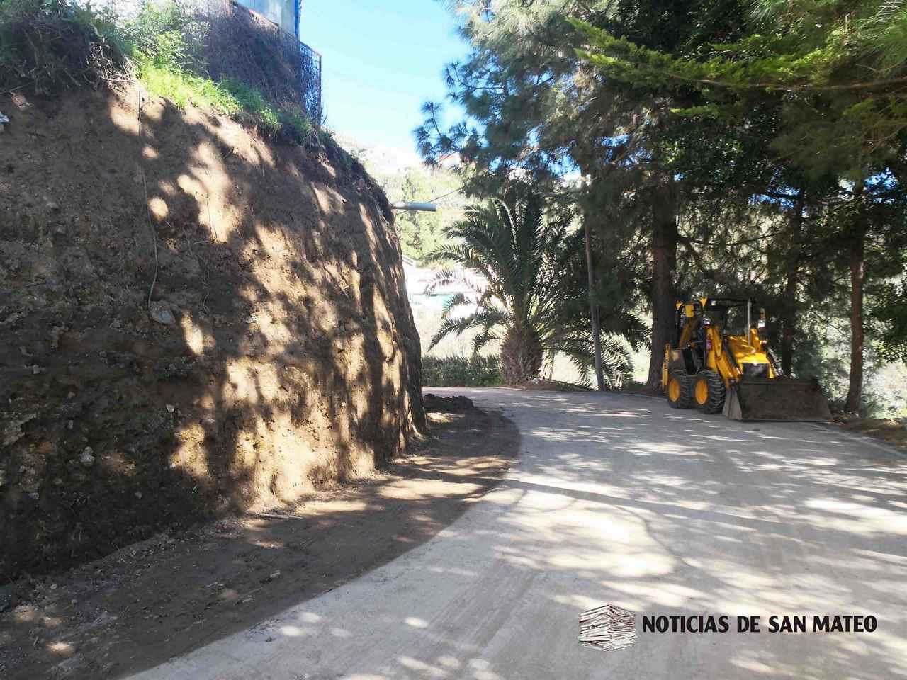 Obras en La Yedra San Mateo 5 diciembre 2018 Noticias de San Mateo