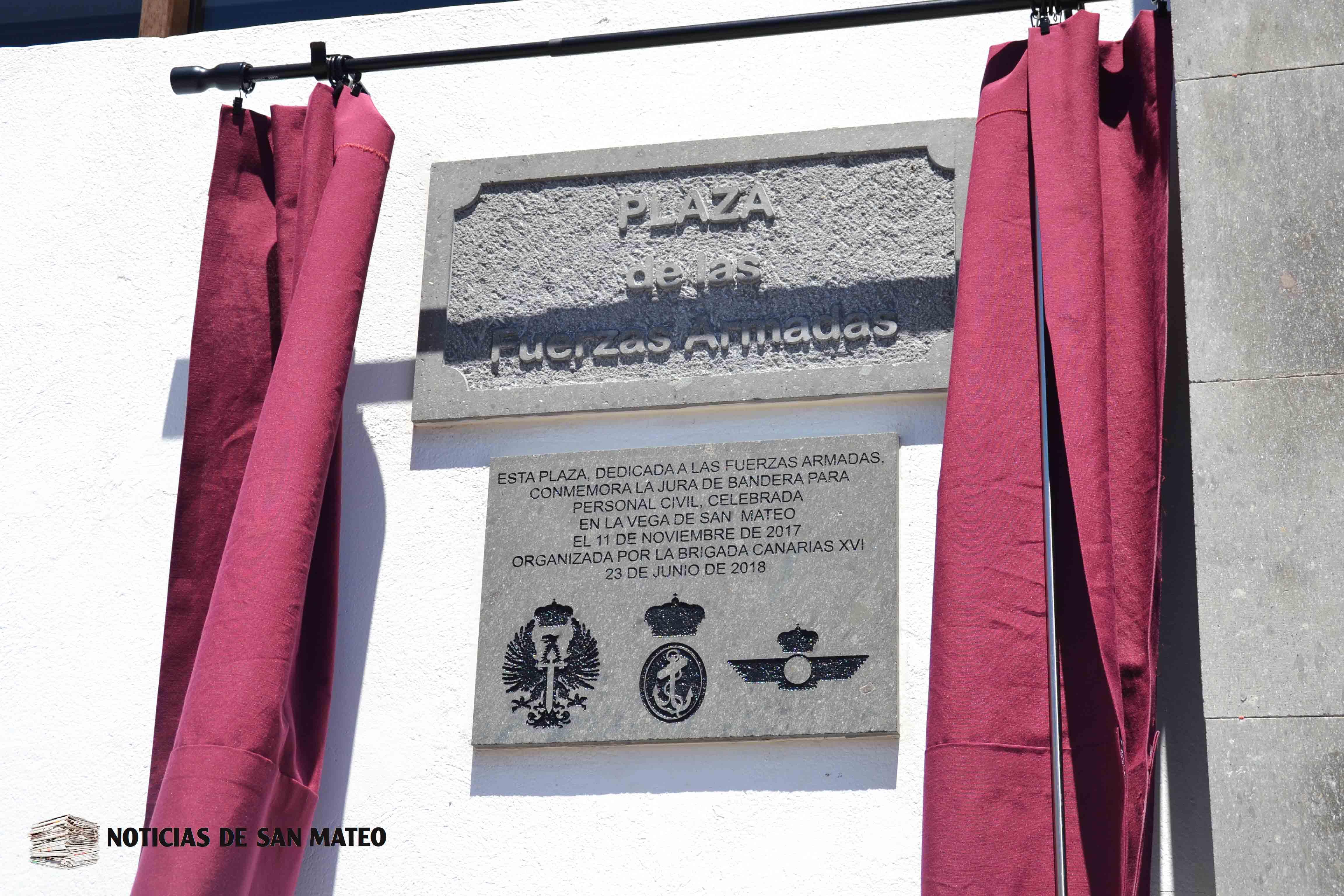 Placa Plaza Fuerzas Armadas