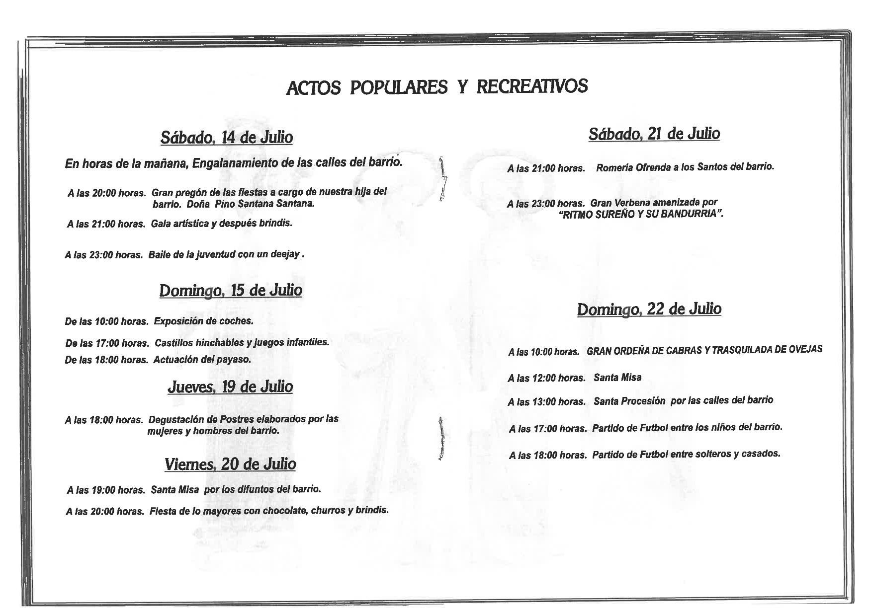 Programa La Solana 2018