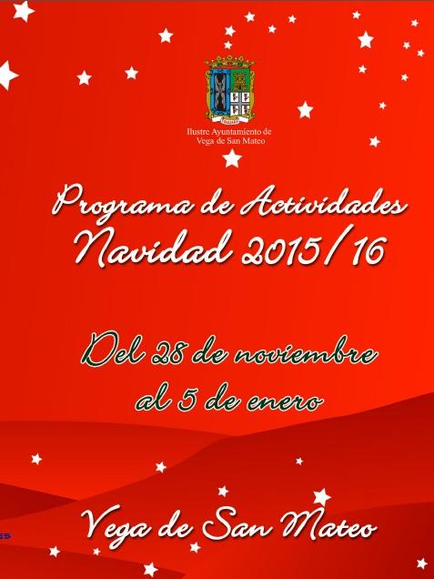 Programa actividades Navidad San Mateo 2015