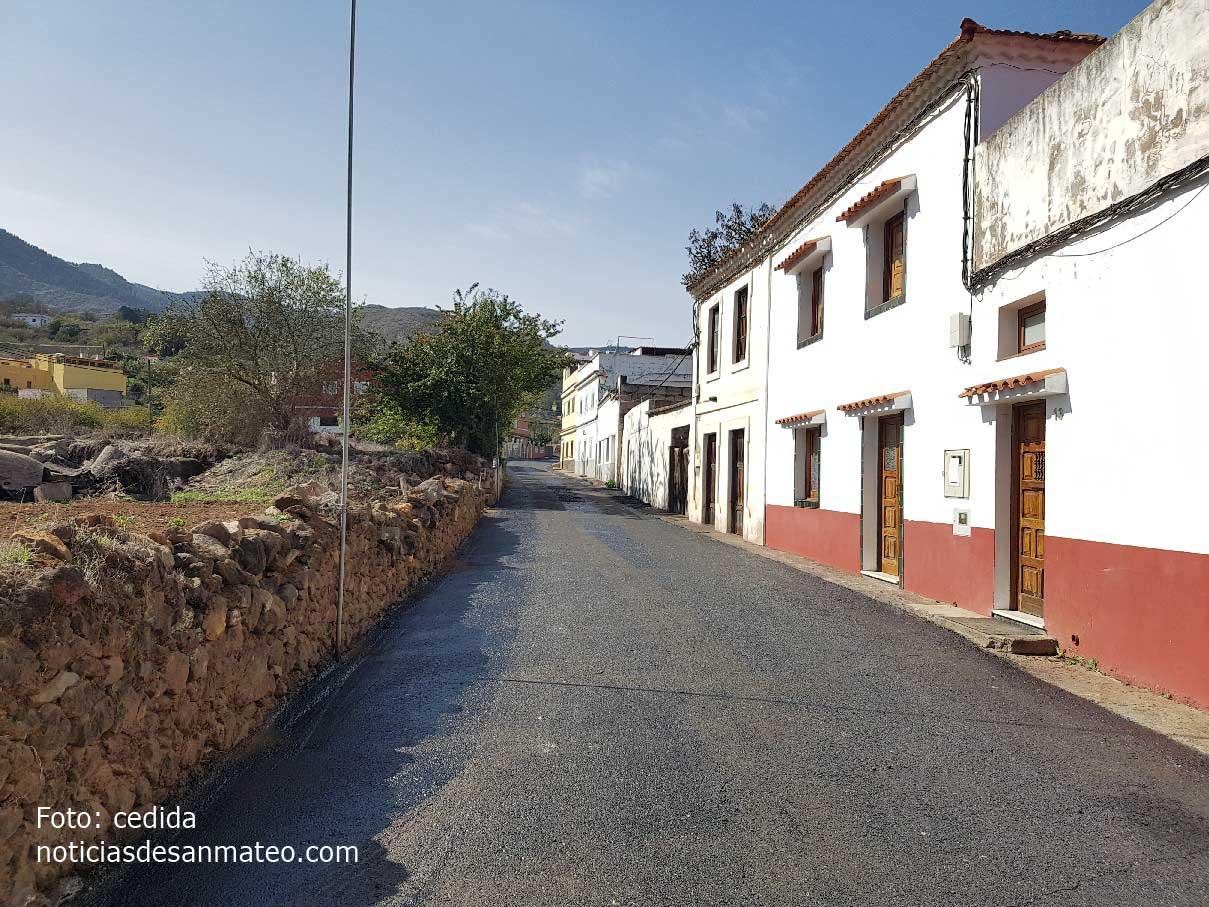 Reasfaltado calle La Palma Noticias de San Mateo