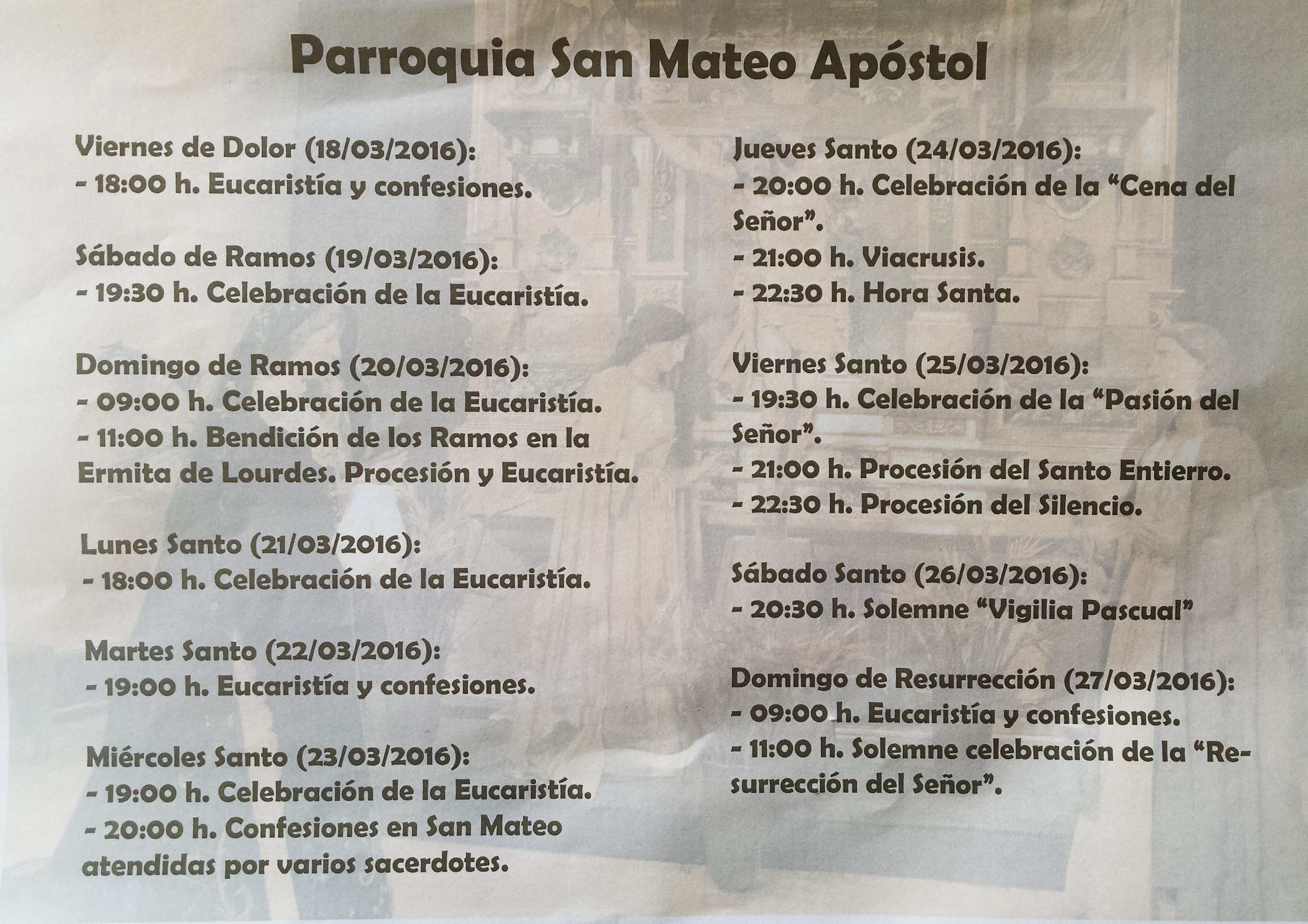 Semana Santa en San Mateo y Utiaca 2016 1