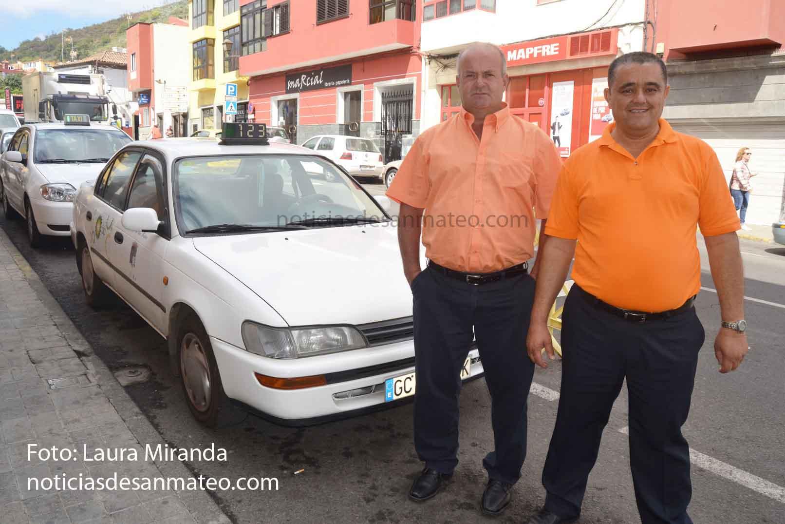Taxistas de San Mateo Foto Laura Miranda NOTICIAS DE SAN MATEO