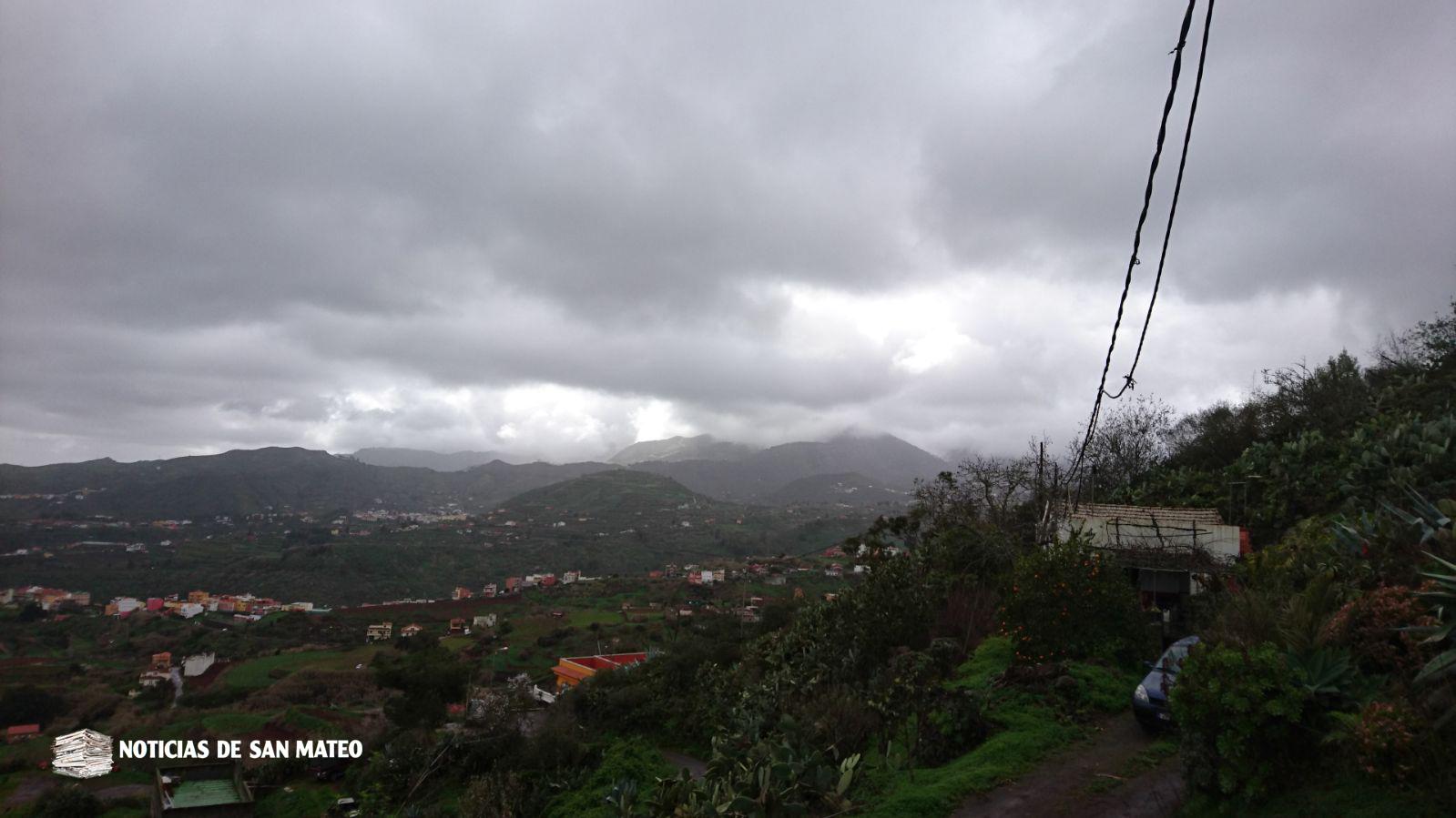 Tiempo en Medianias desde El Piquillo 27 enero de 2018