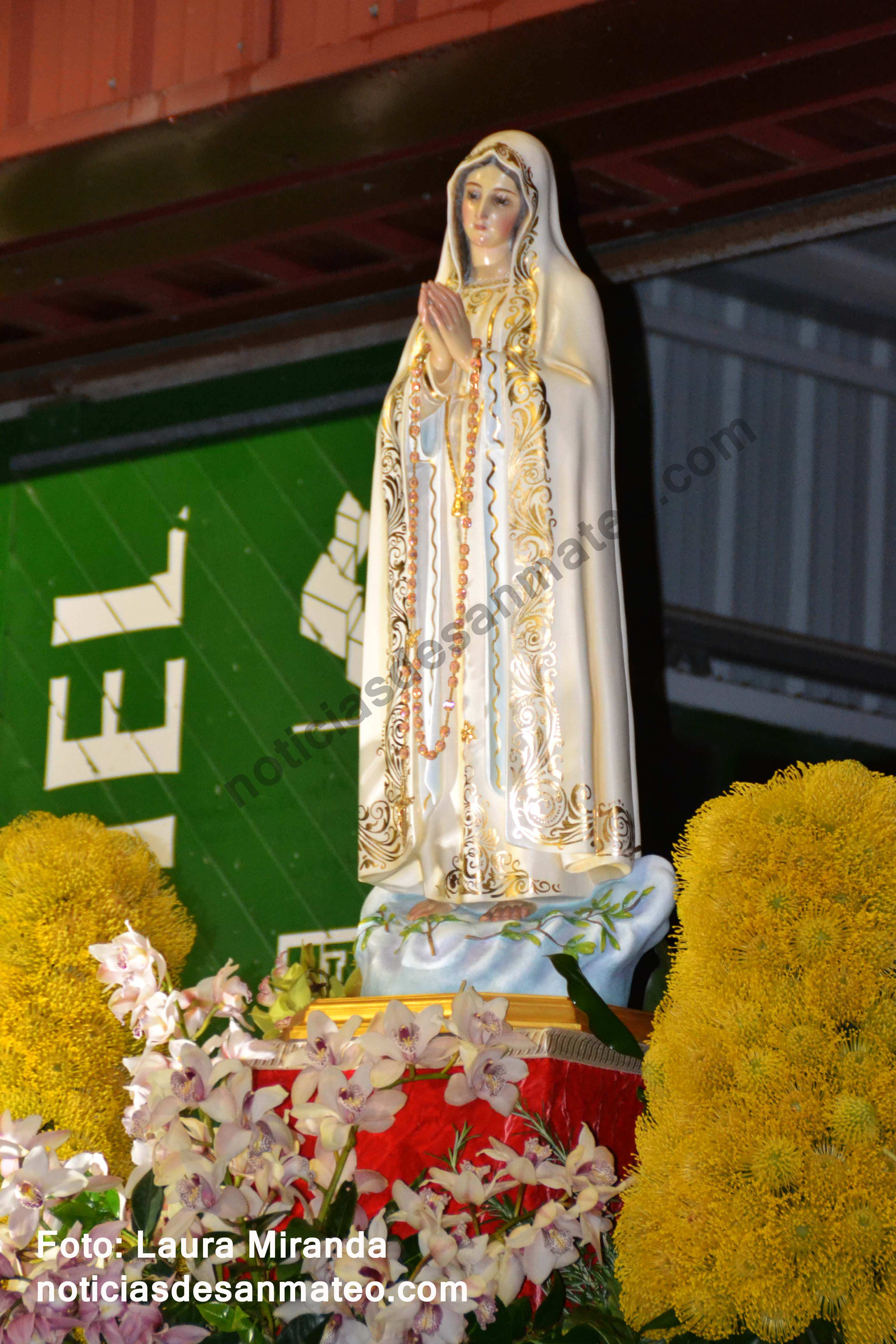 Virgen de Fatima Mayo de 2017 Foto LAURA MIRANDA DERECHOS RESERVADOS