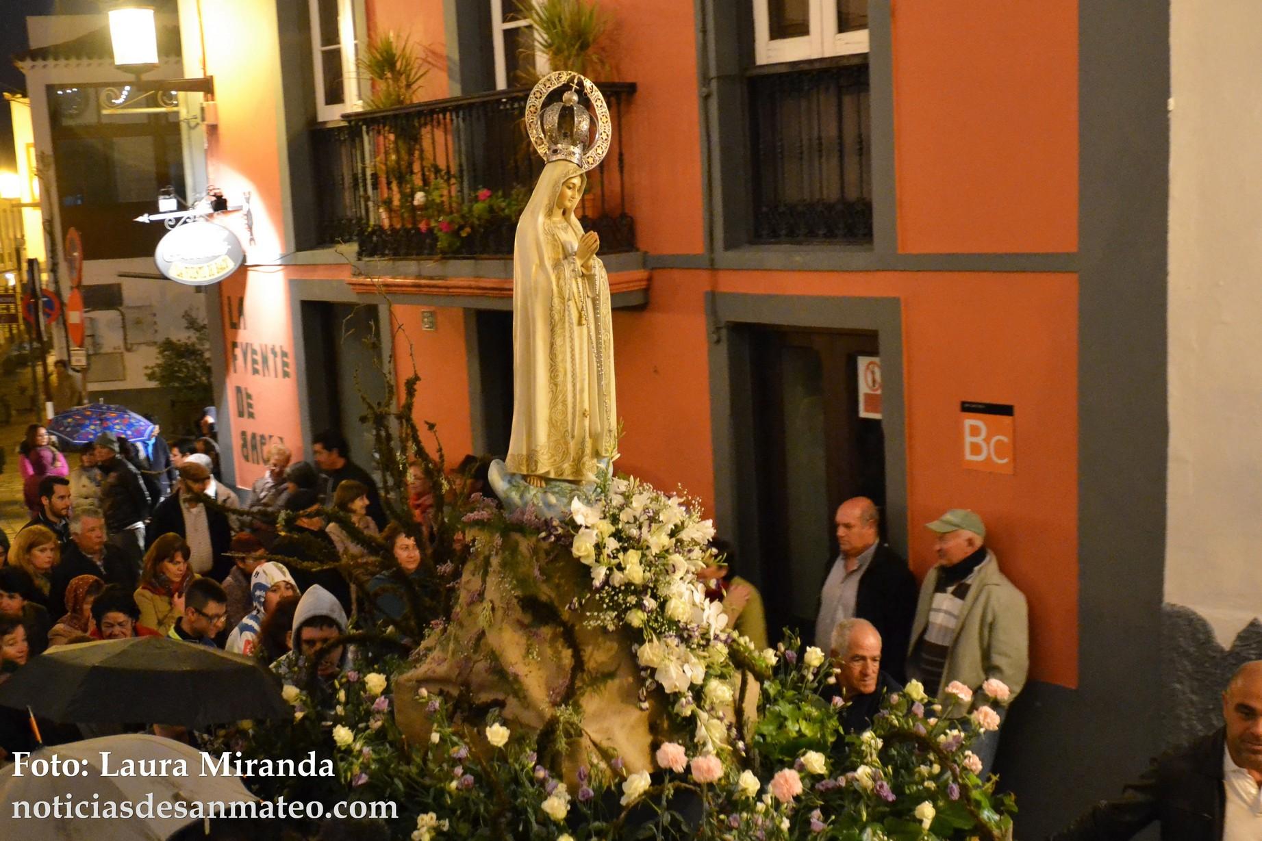 Virgen de Fatima procesion lunes 9 de mayo de 2016 Foto Laura Miranda Noticias de San Mateo