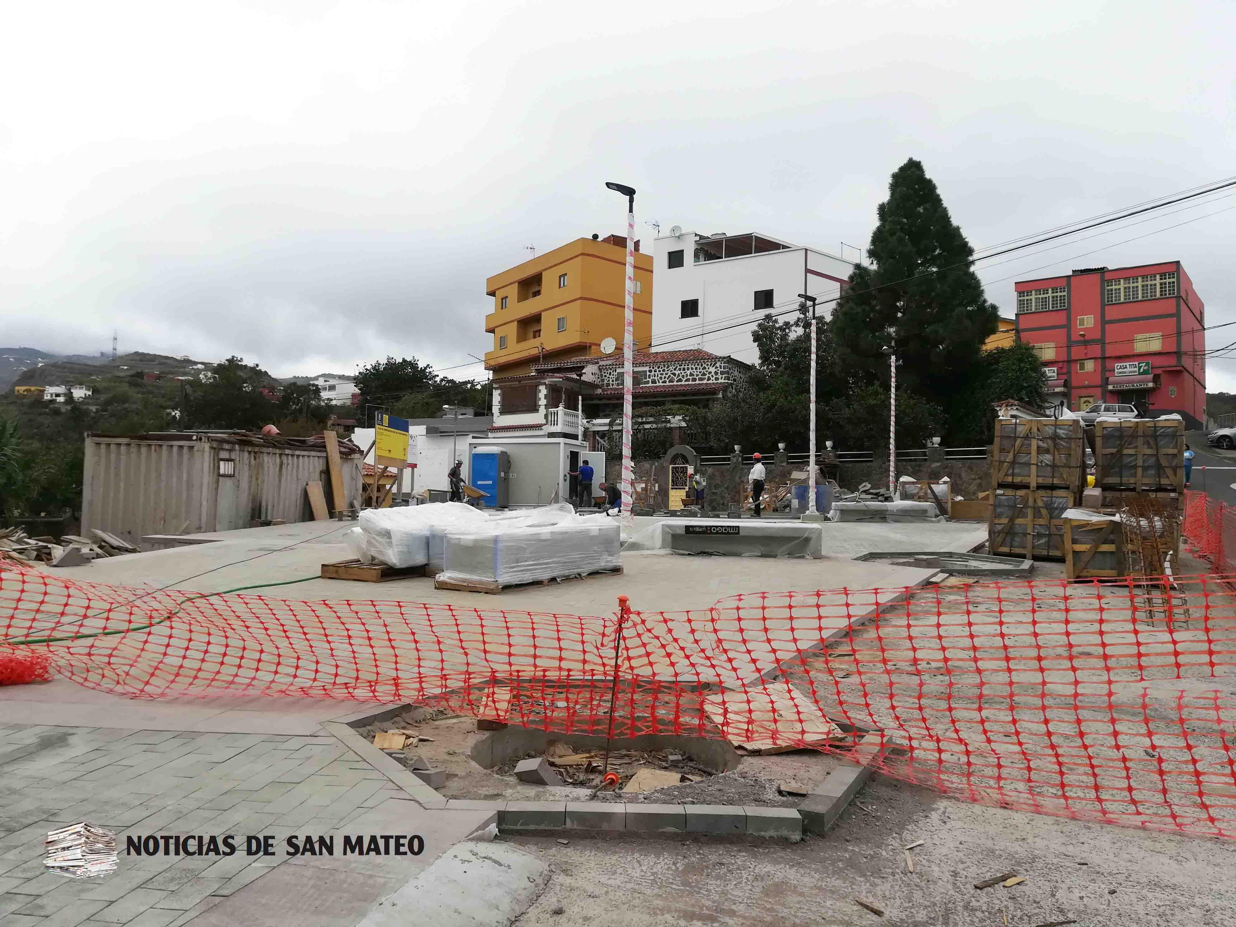 Web Obra Plaza La Solana 20 de octubre de 2017 Foto Laura Miranda Noticias de San Mateo
