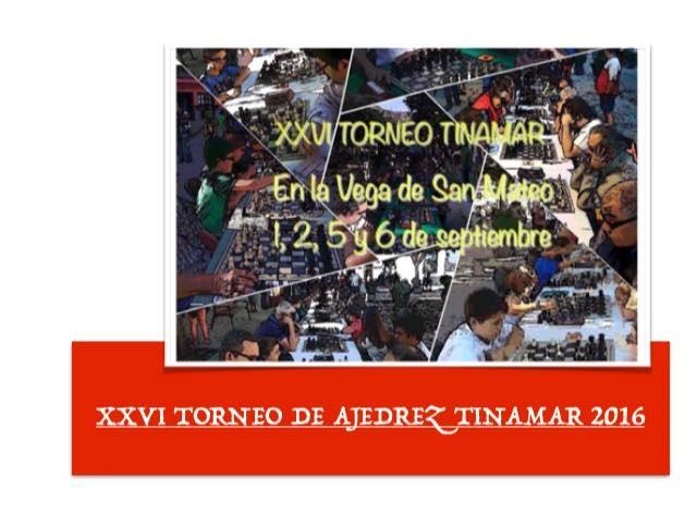 XXVI Torneo Ajedrez Tinamar San Mateo