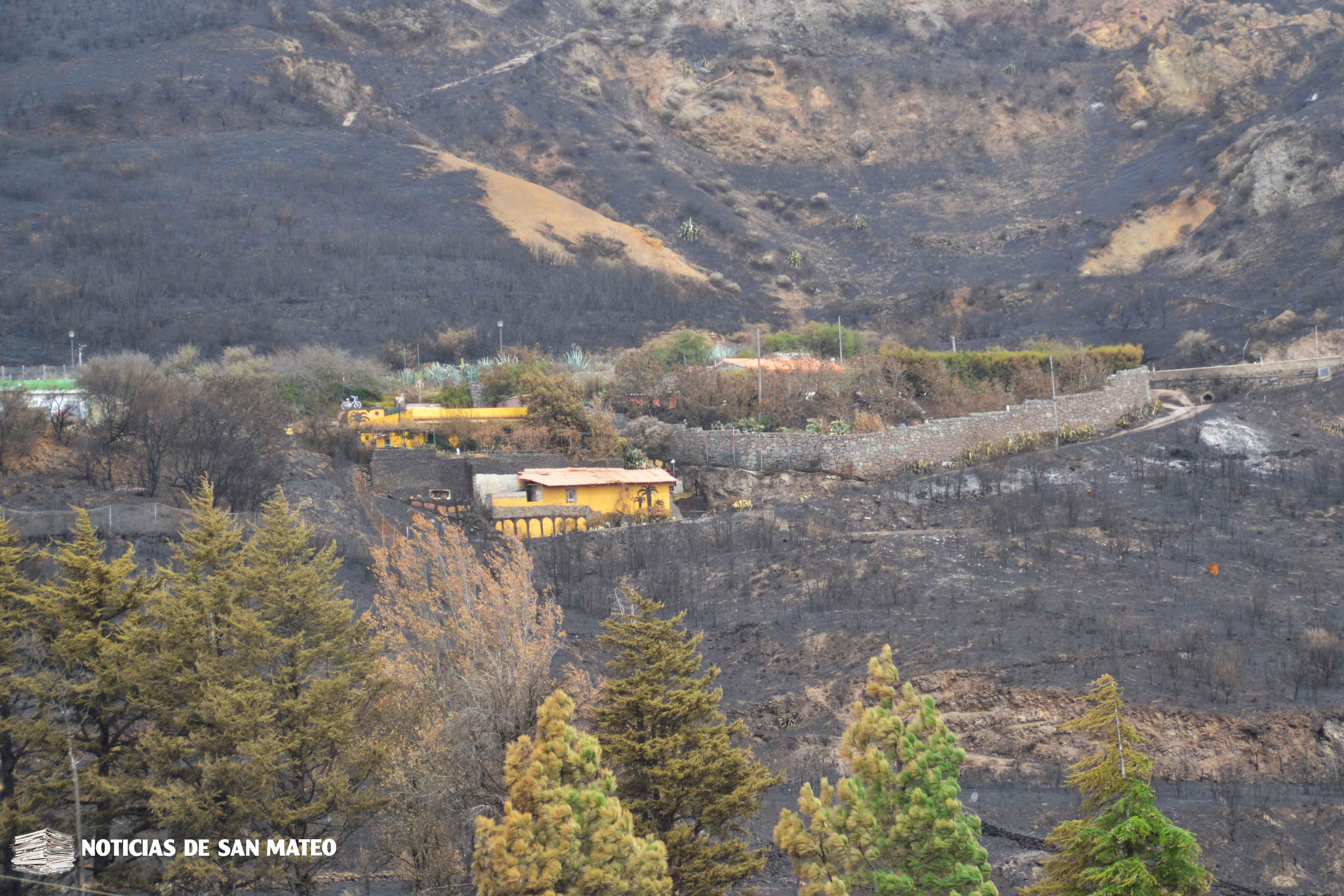 Zona afectada por el incendio en San Mateo 2017 Foto Noticias de San Mateo