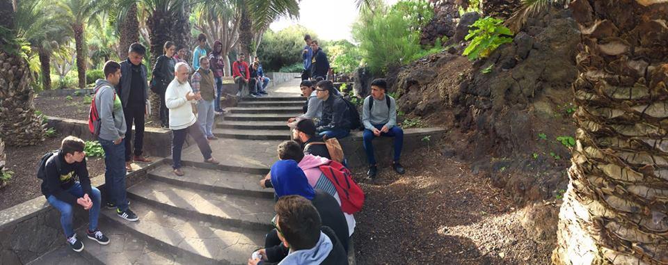 alumnos forestales en jardin canario
