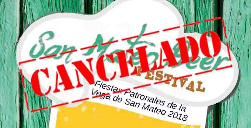 cancelada fiesta cerveza 2018