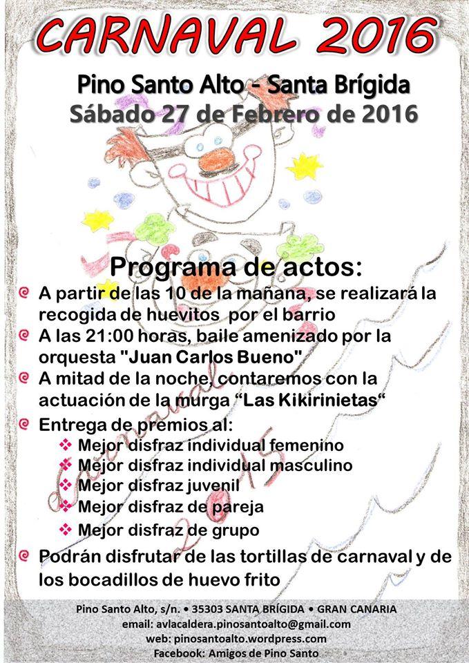 carnaval pino santo alto 27 de feb 2016