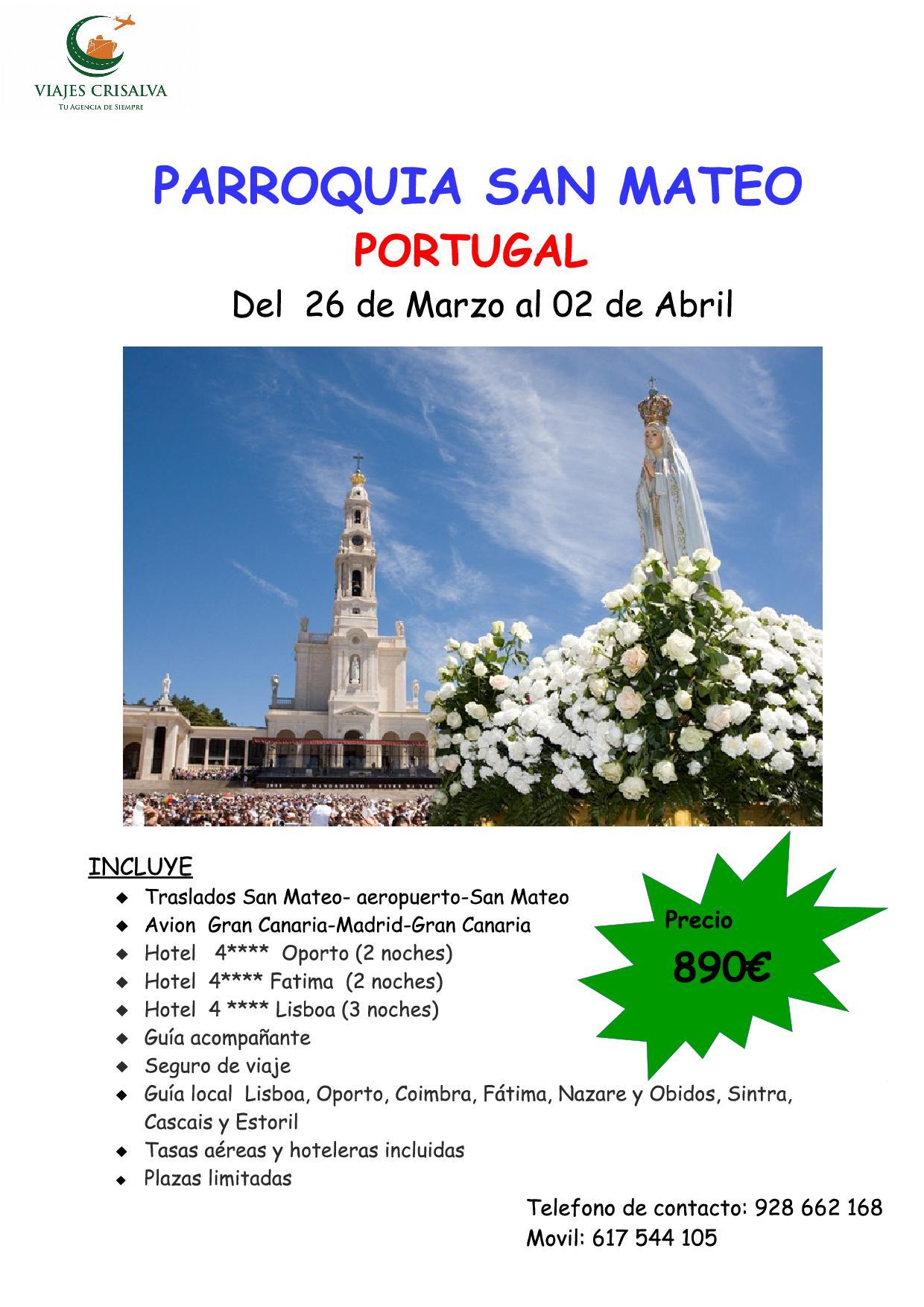 cartel Parroquia Portugal