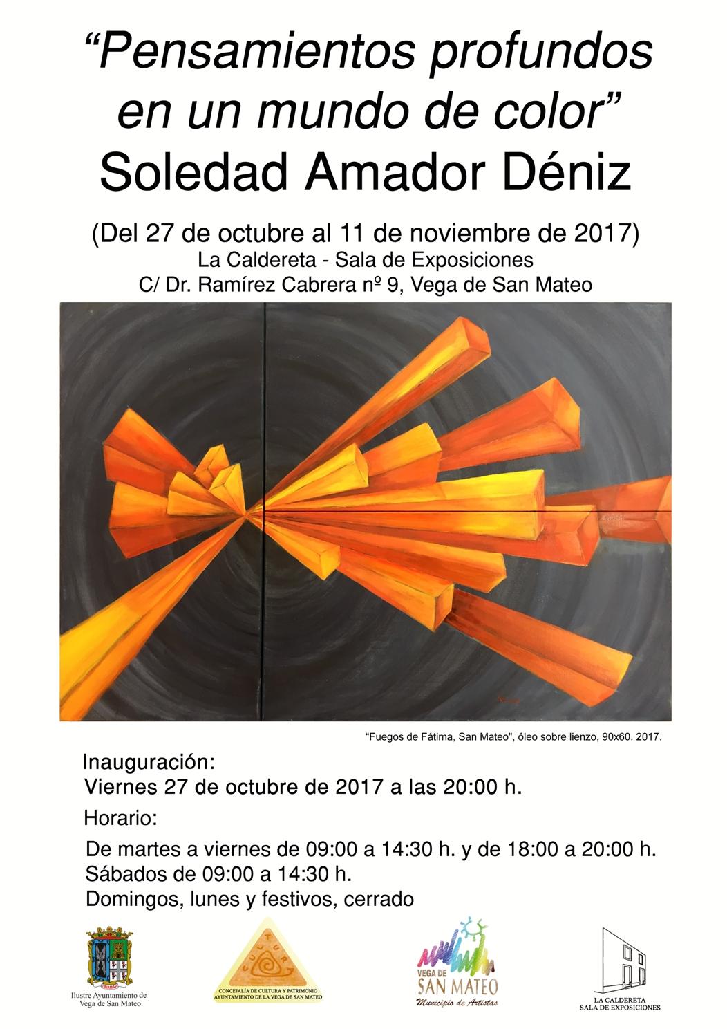 cartel expo Soledad Amador 2017