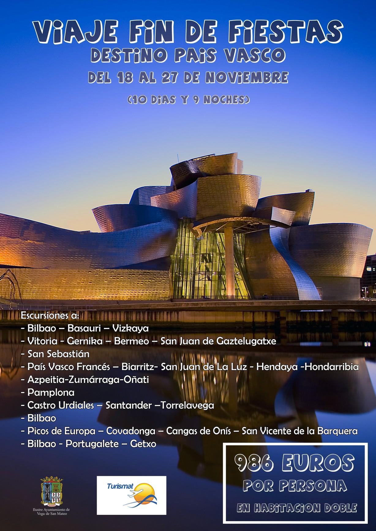 cartel viaje al pais vasco