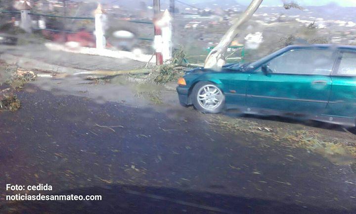 coche afectado temporal viento 12 de febrero de 2017