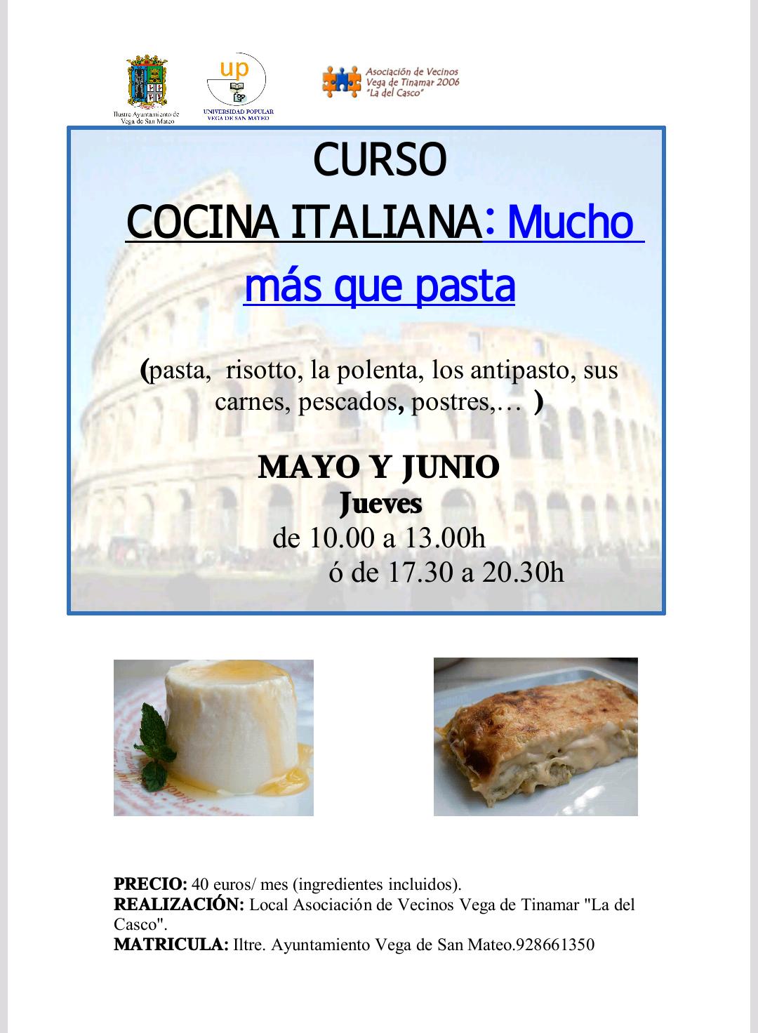 curso cocina italiana up san mateo