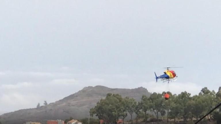 fuego helicoptero