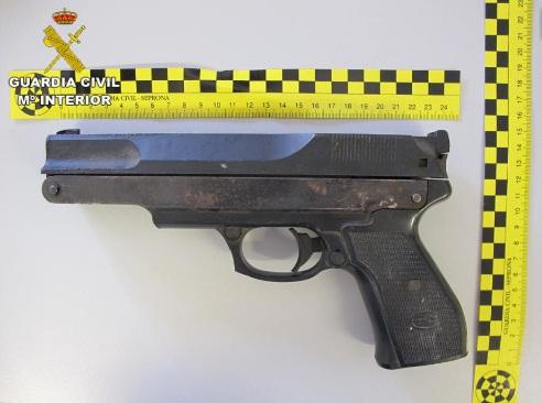 pistola decomisada san mateo noviembre 2017
