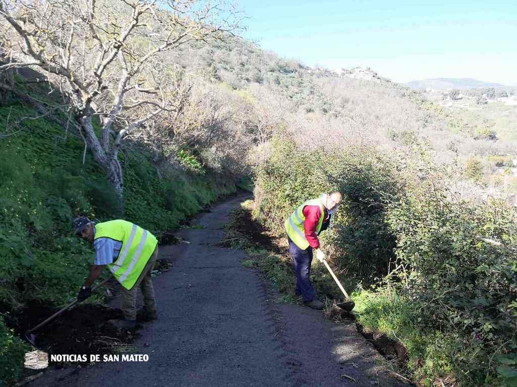 tareas de limpieza Hoya Troya La Lechucilla Febrero de 2019 Noticias de San Mateo