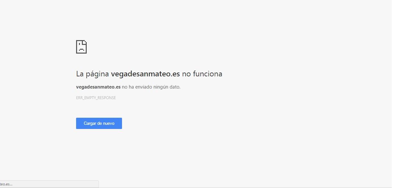 web ayto no funciona