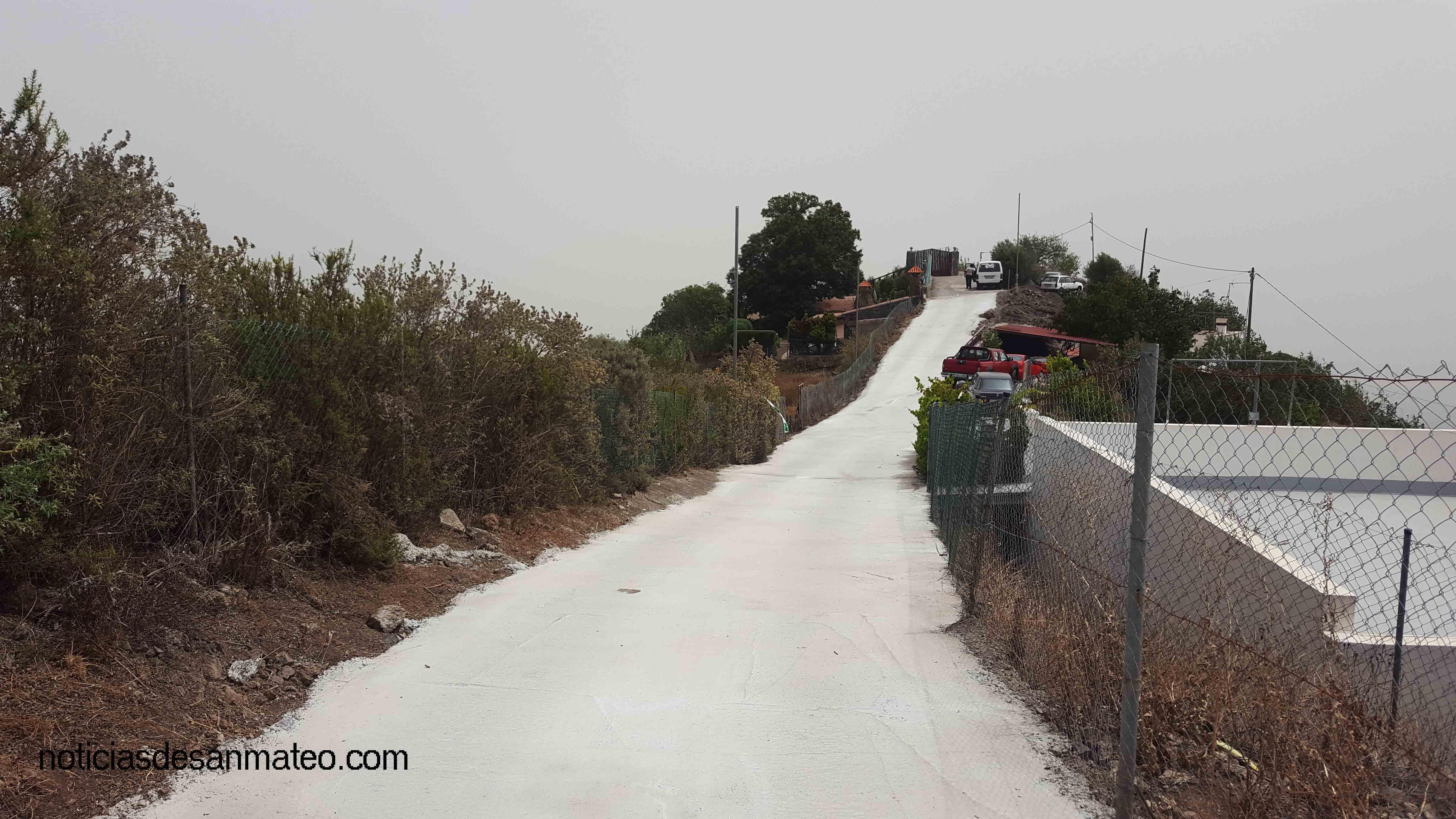 Hormigonado Carretera Cueva del Talayon Agosto 2017
