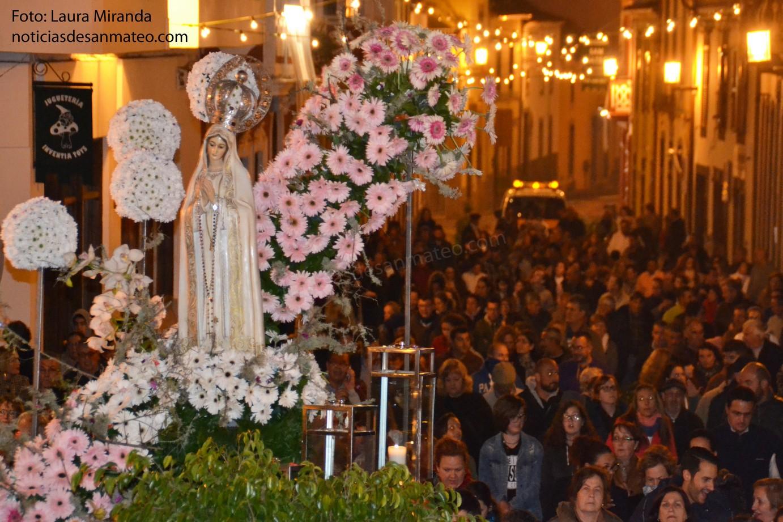 Procesion Virgen Fatima Viernes 13 de mayo
