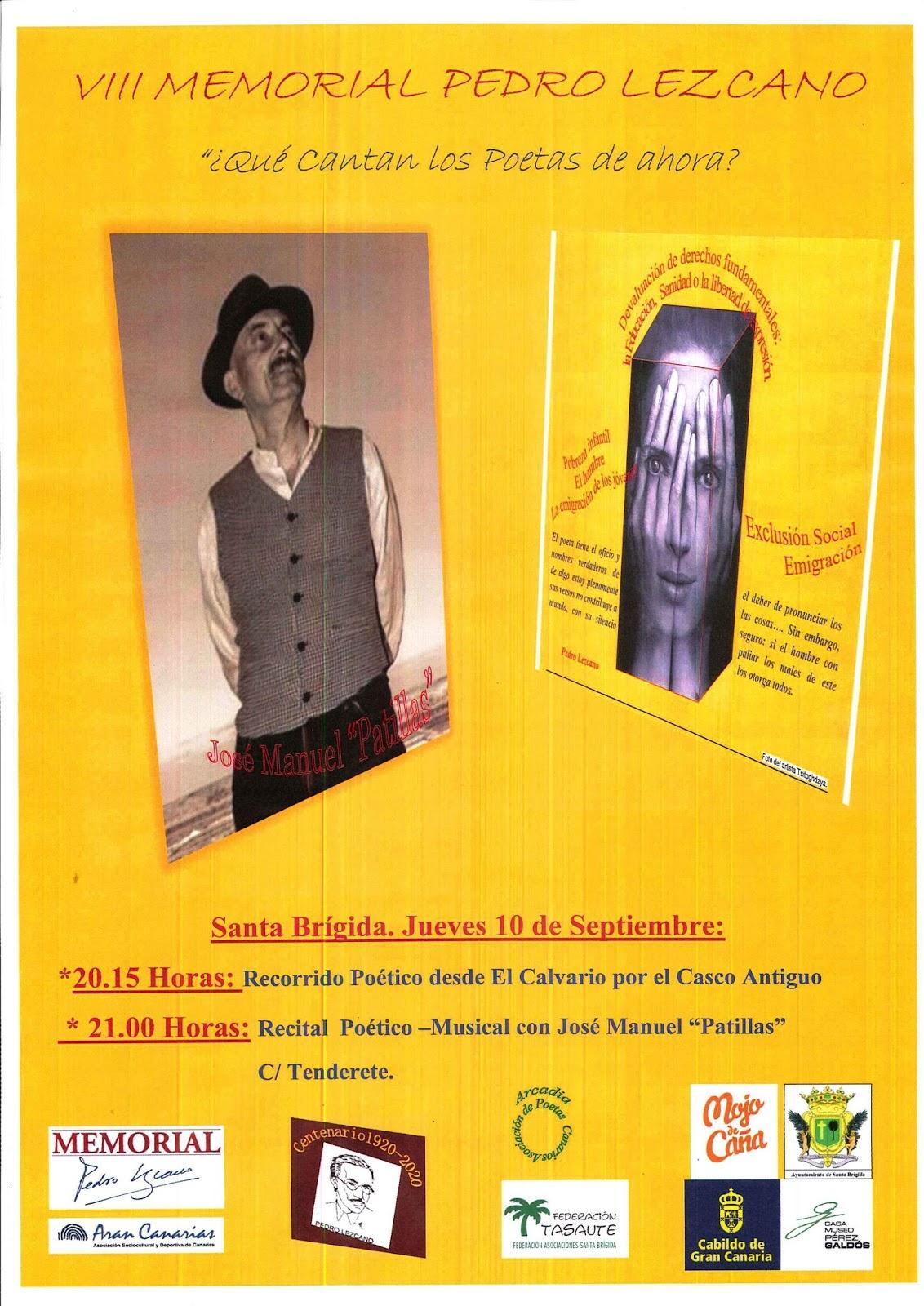 Cartel Patillas VIII MEMORIAL PEDRO LEZCANO